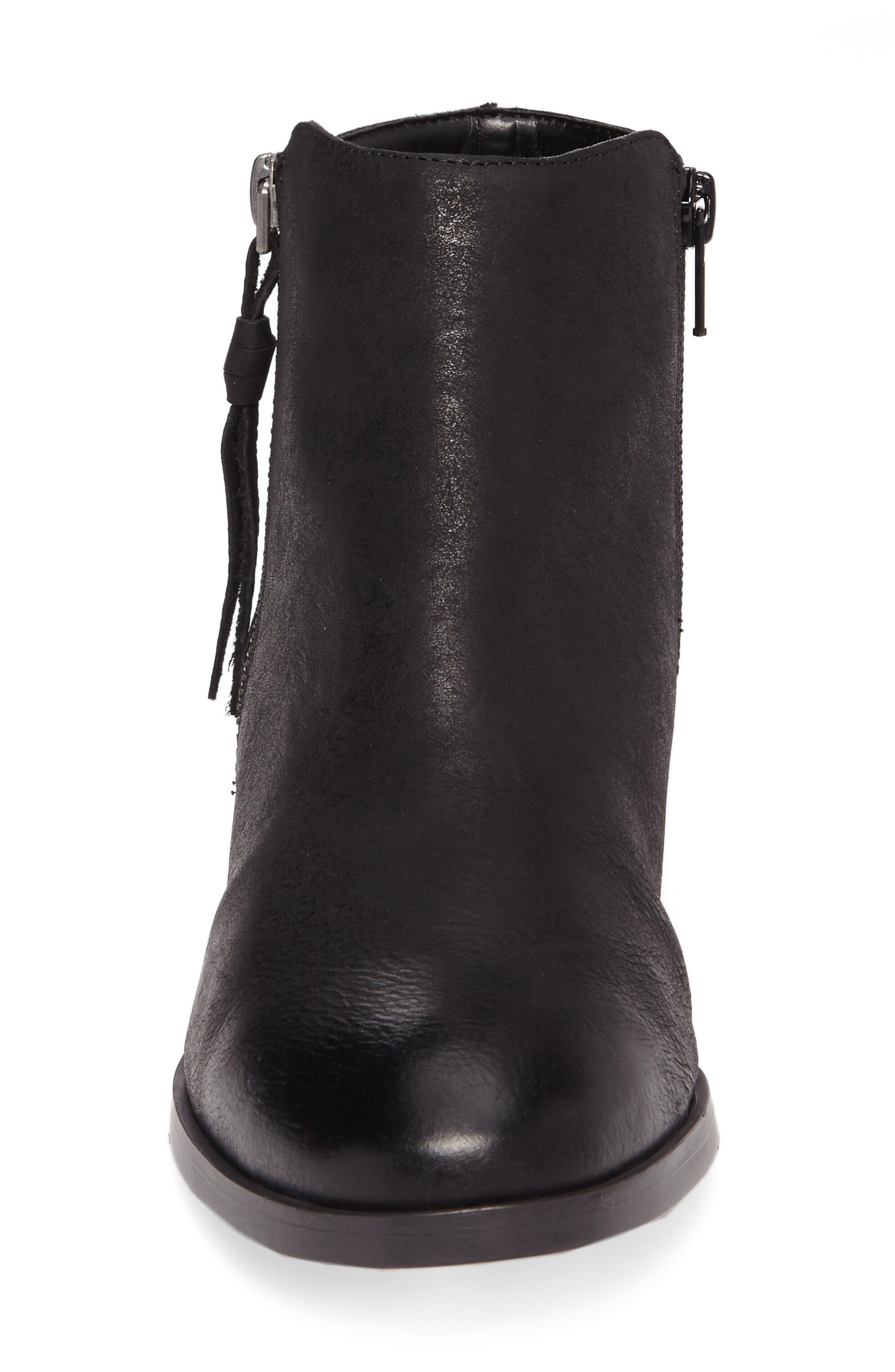 Abbott Bootie,                             Alternate thumbnail 4, color,                             BLACK LEATHER