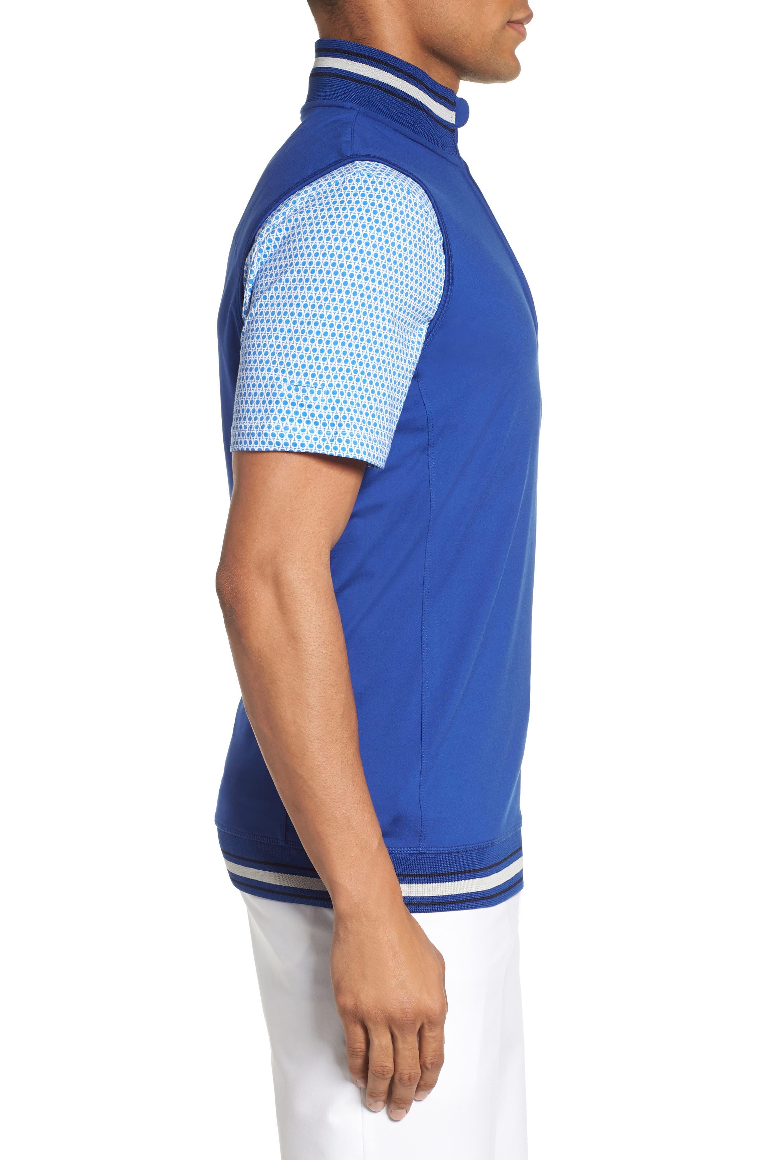 Gala Trim Golf Quarter-Zip Vest,                             Alternate thumbnail 3, color,                             430