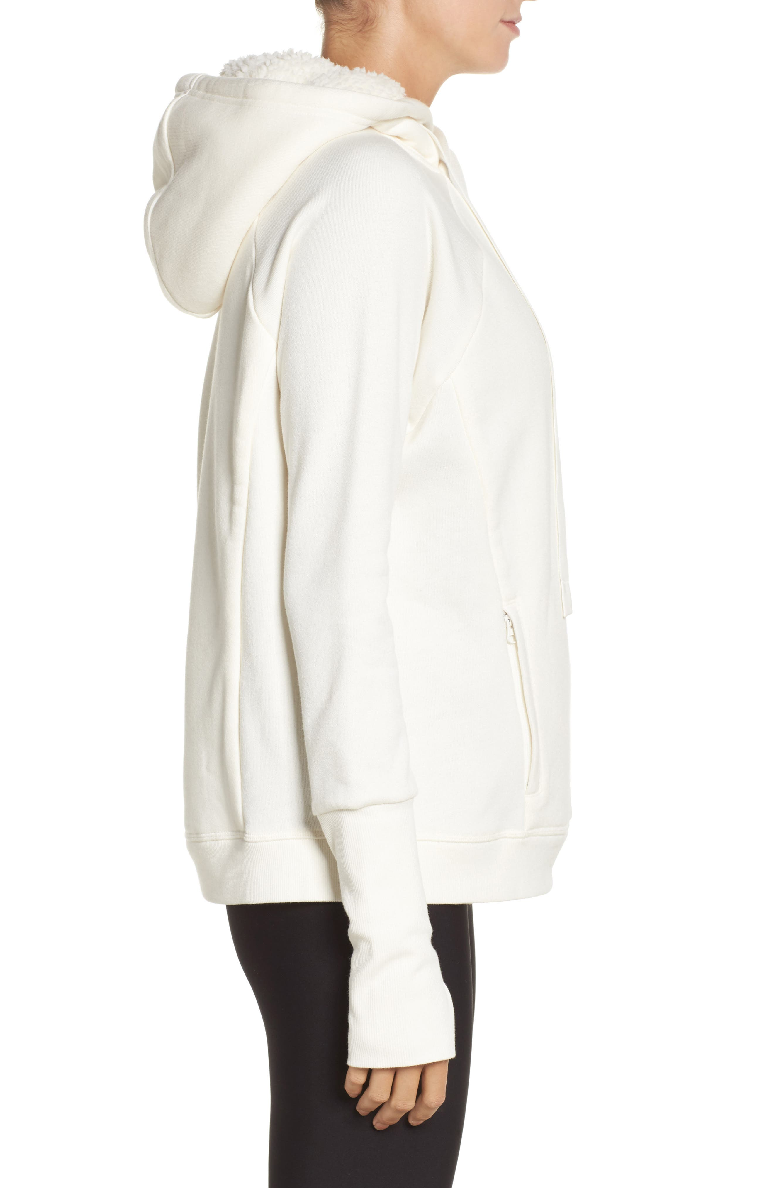 Frost Faux Shearling Lined Hoodie,                             Alternate thumbnail 7, color,