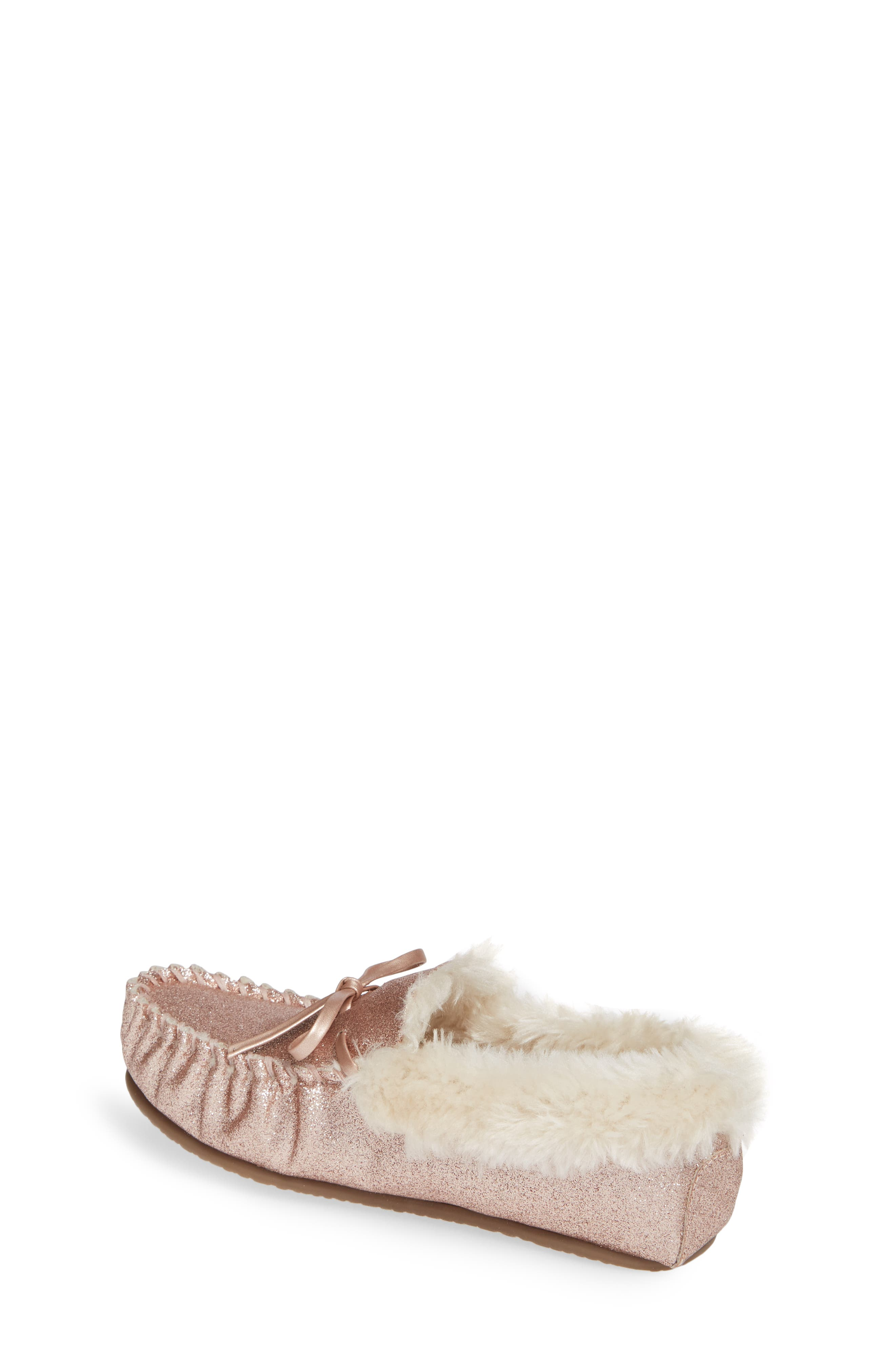 Mila Faux Fur Moccasin Slipper,                             Alternate thumbnail 2, color,                             710