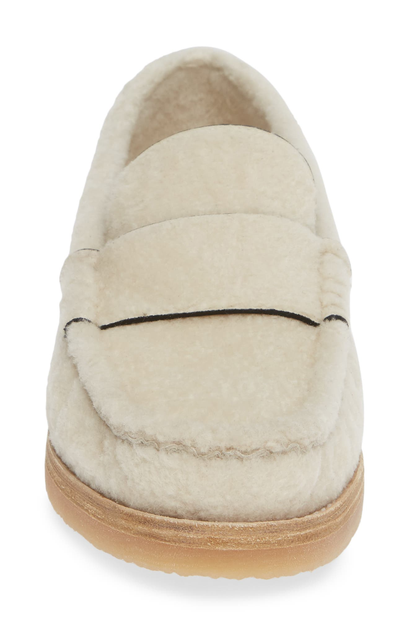 Bromley Genuine Shearling Loafer,                             Alternate thumbnail 4, color,                             CREAM CHICAGO