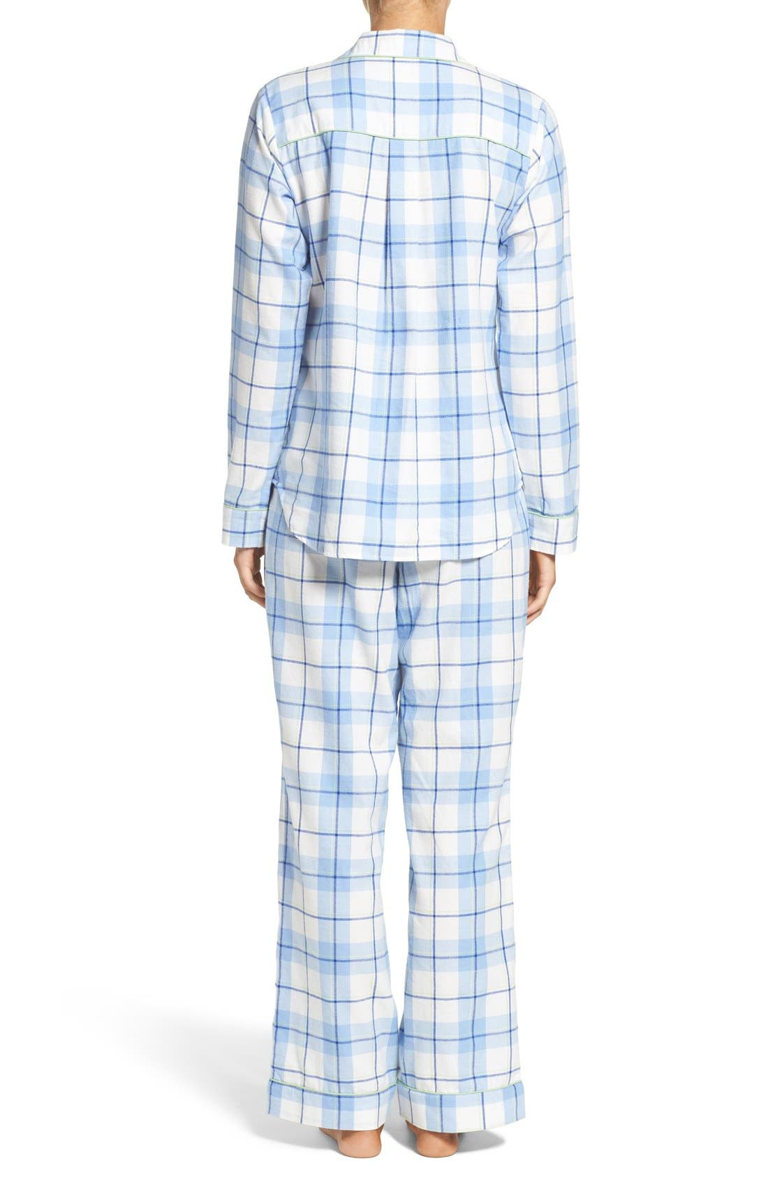 'Raven' Plaid Cotton Pajamas,                             Alternate thumbnail 3, color,                             410