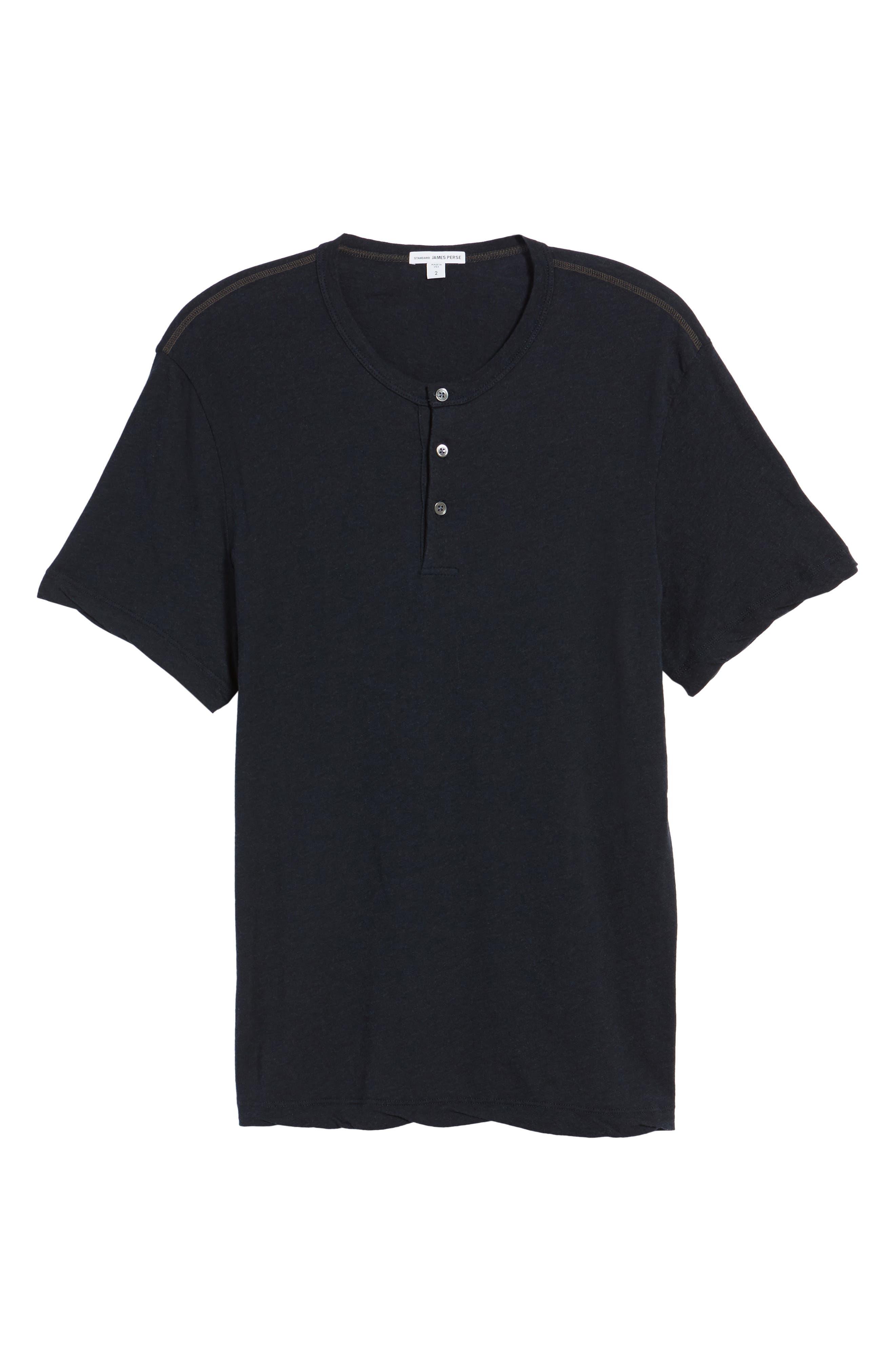 Contrast Stitch Henley T-Shirt,                             Alternate thumbnail 12, color,