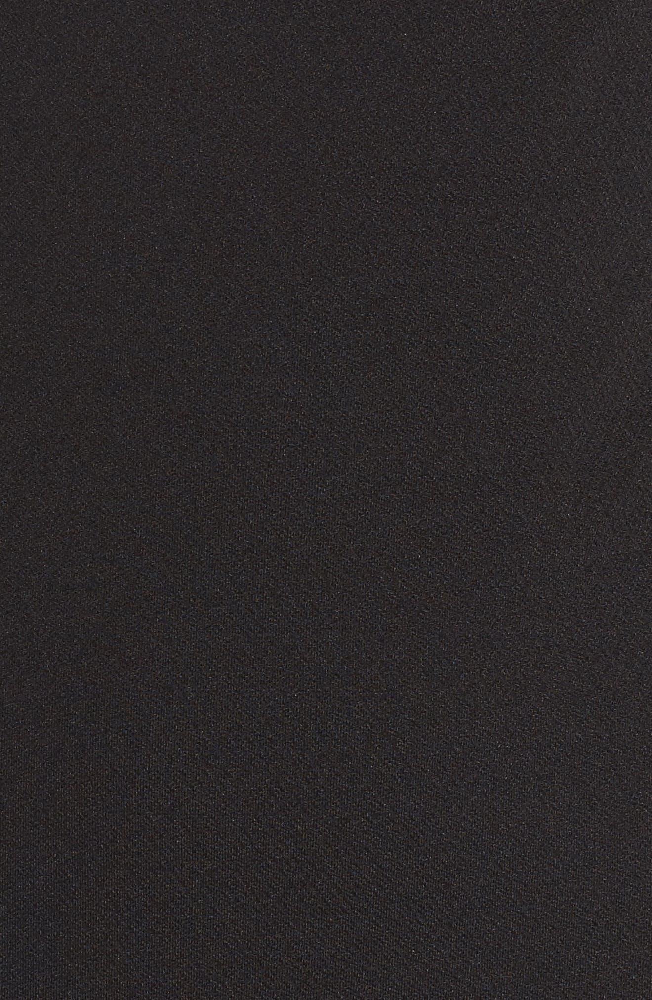 Aria Cold Shoulder Sheath Dress,                             Alternate thumbnail 5, color,                             001