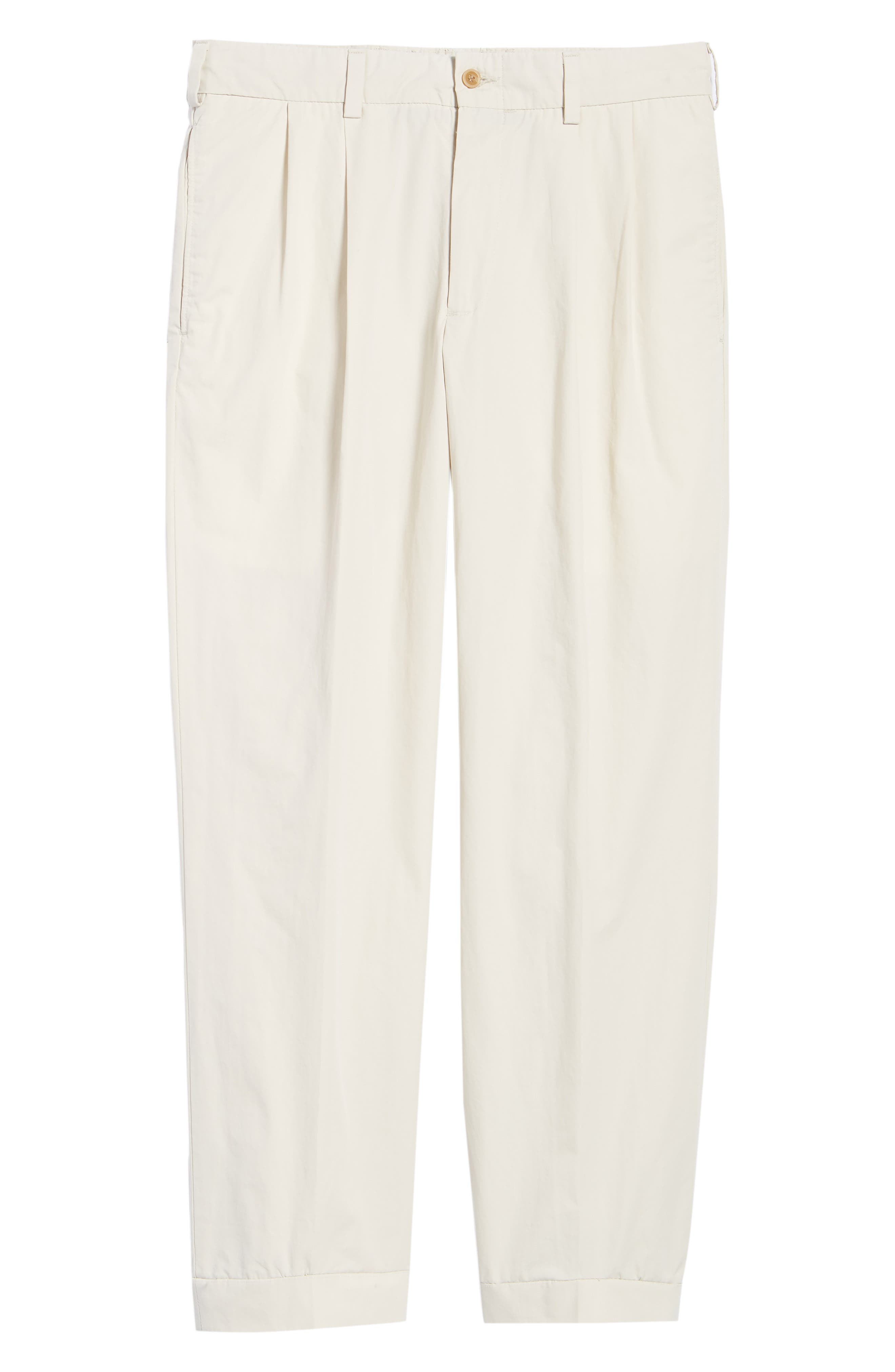 M2 Classic Fit Pleated Tropical Cotton Poplin Pants,                             Alternate thumbnail 6, color,