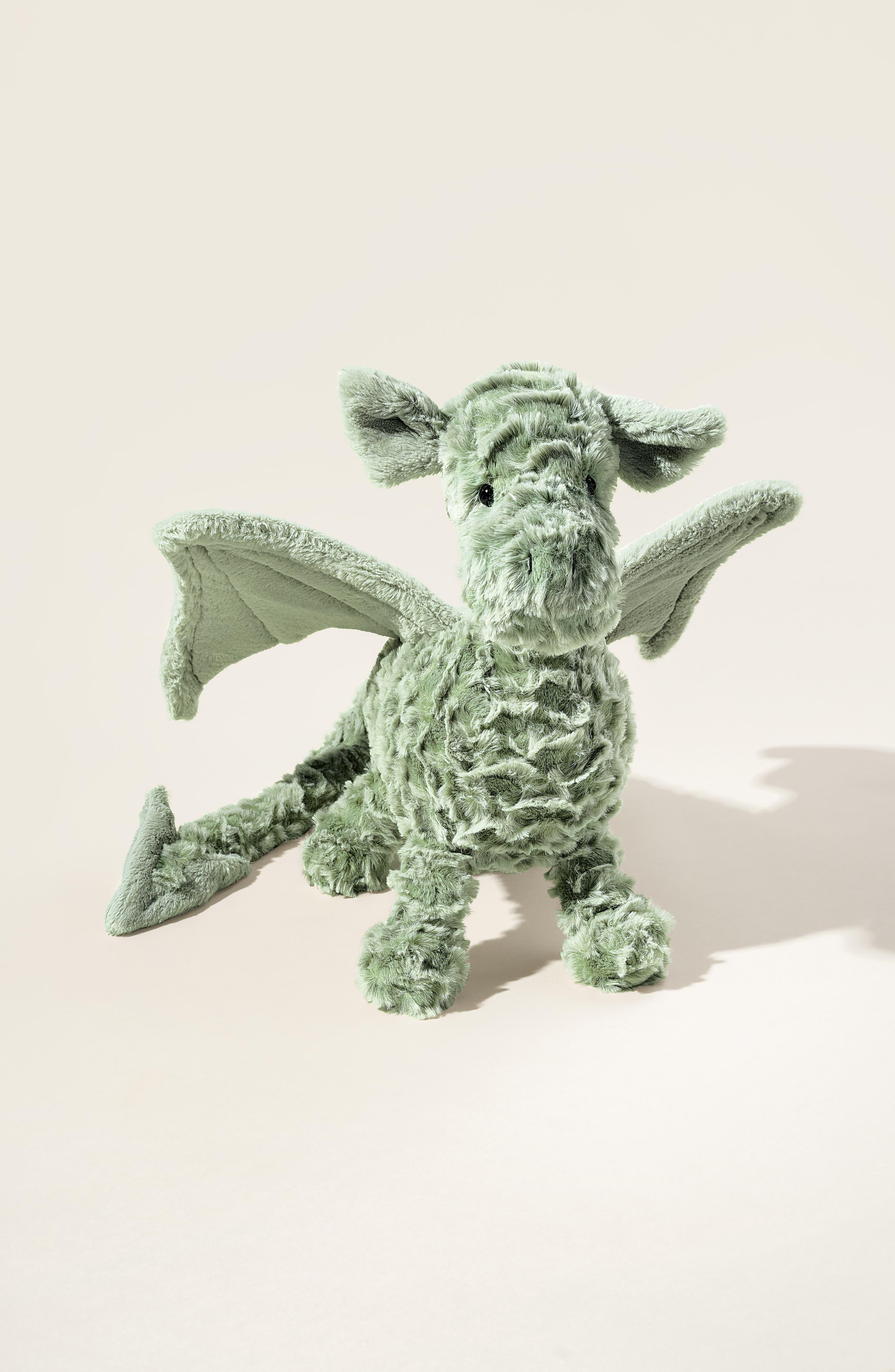Drake Dragon Stuffed Animal,                             Alternate thumbnail 2, color,                             GREEN