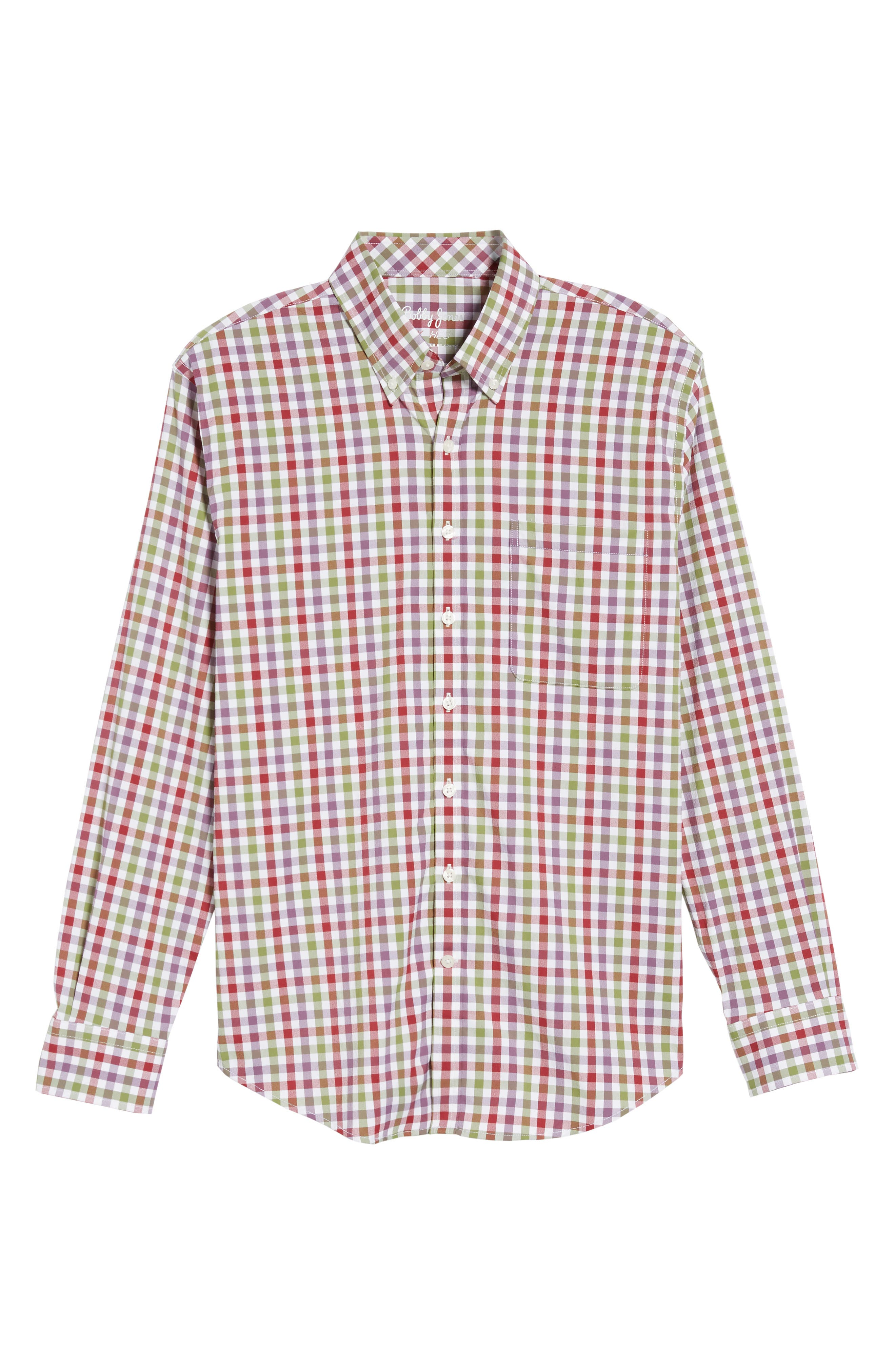 Autumn Check Easy Care Sport Shirt,                             Alternate thumbnail 6, color,