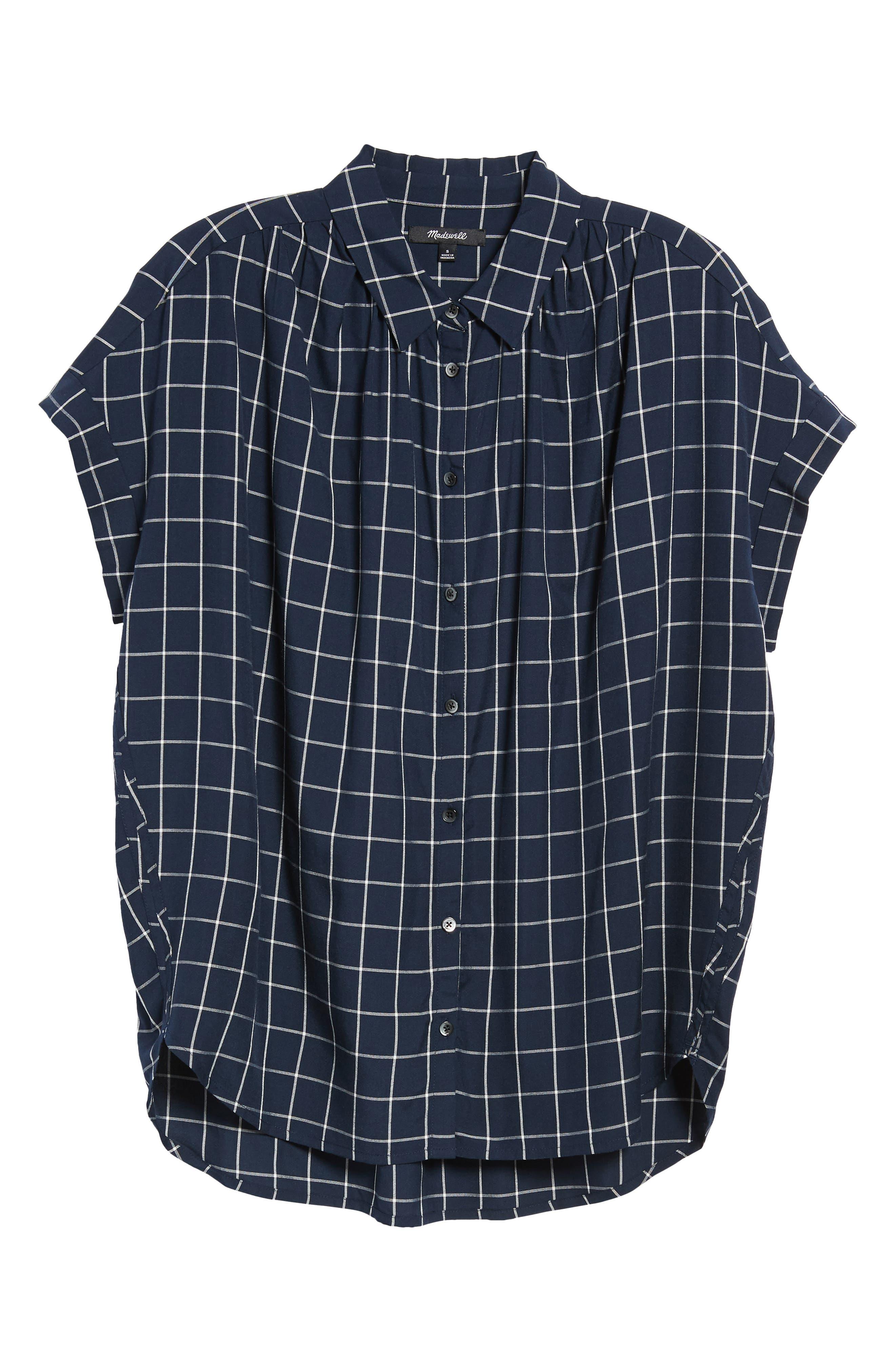 Central Windowpane Check Shirt,                             Alternate thumbnail 6, color,                             490