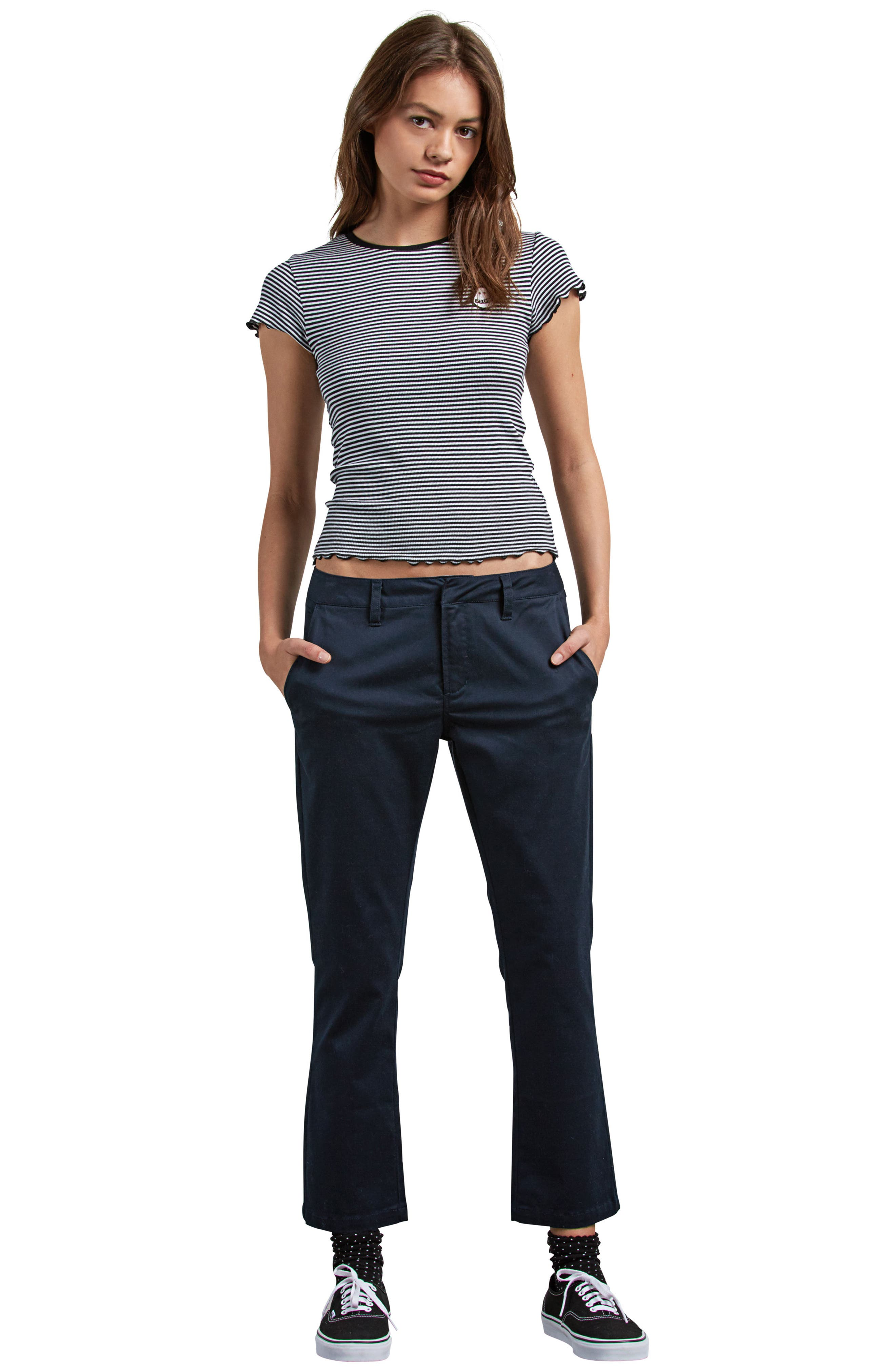 Frochickie Crop Pants,                             Alternate thumbnail 4, color,                             NAVY