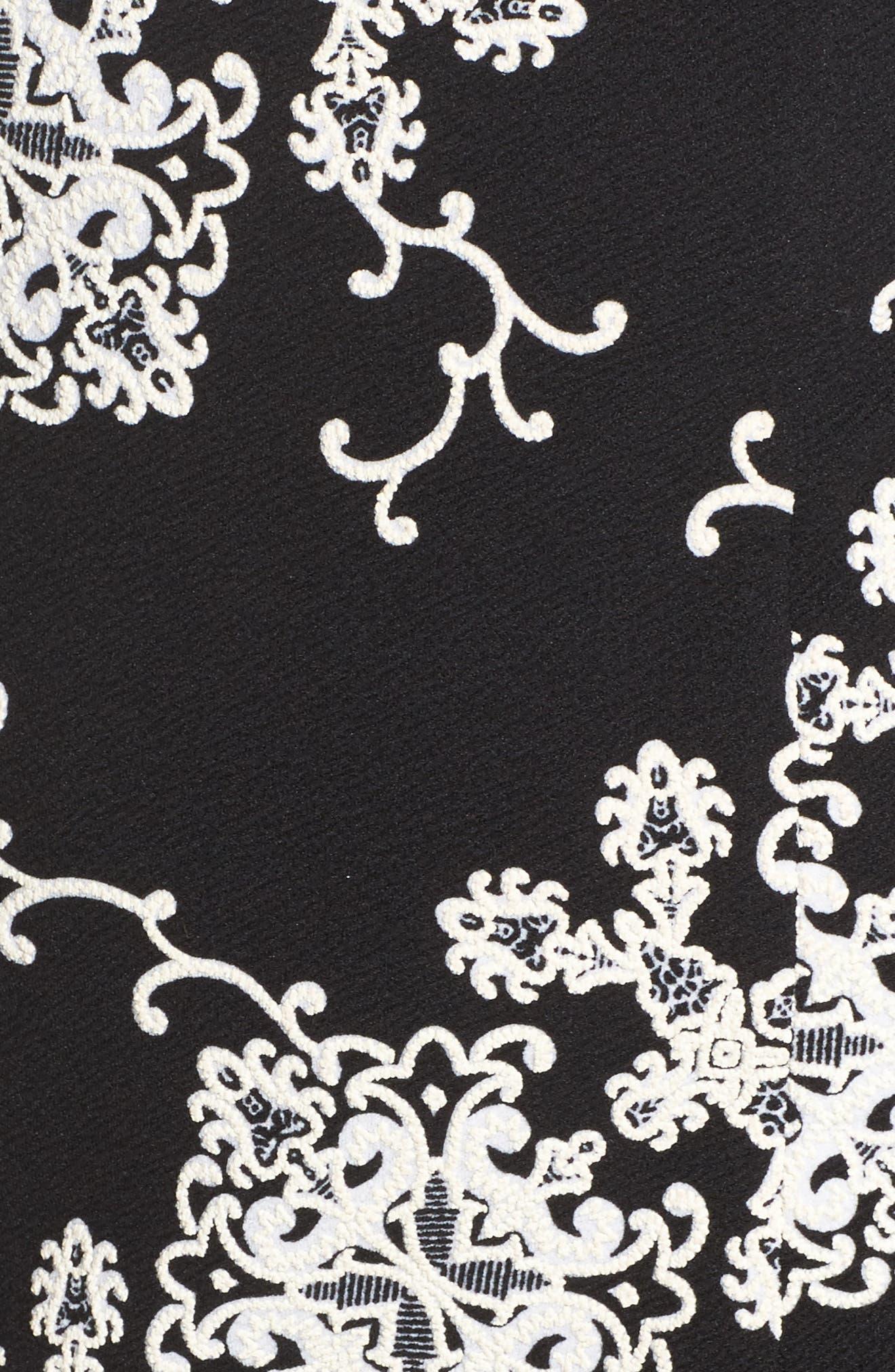 Flare Sleeve Sheath Dress,                             Alternate thumbnail 5, color,                             016