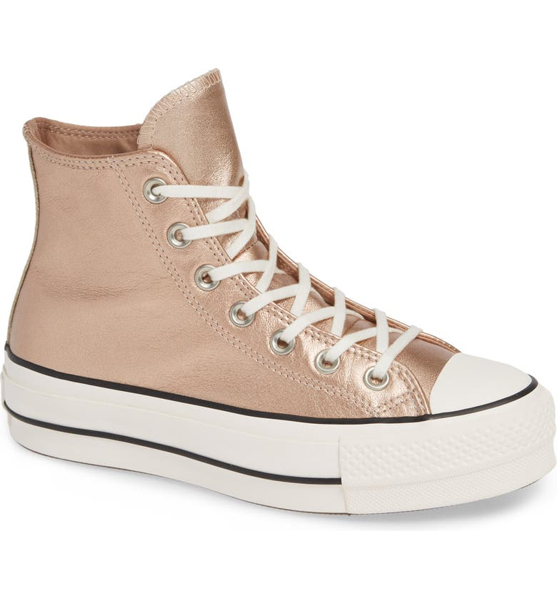 c7c323df0b6 Converse Chuck Taylor All Star Platform High Top Sneaker In Particle Beige  Leather