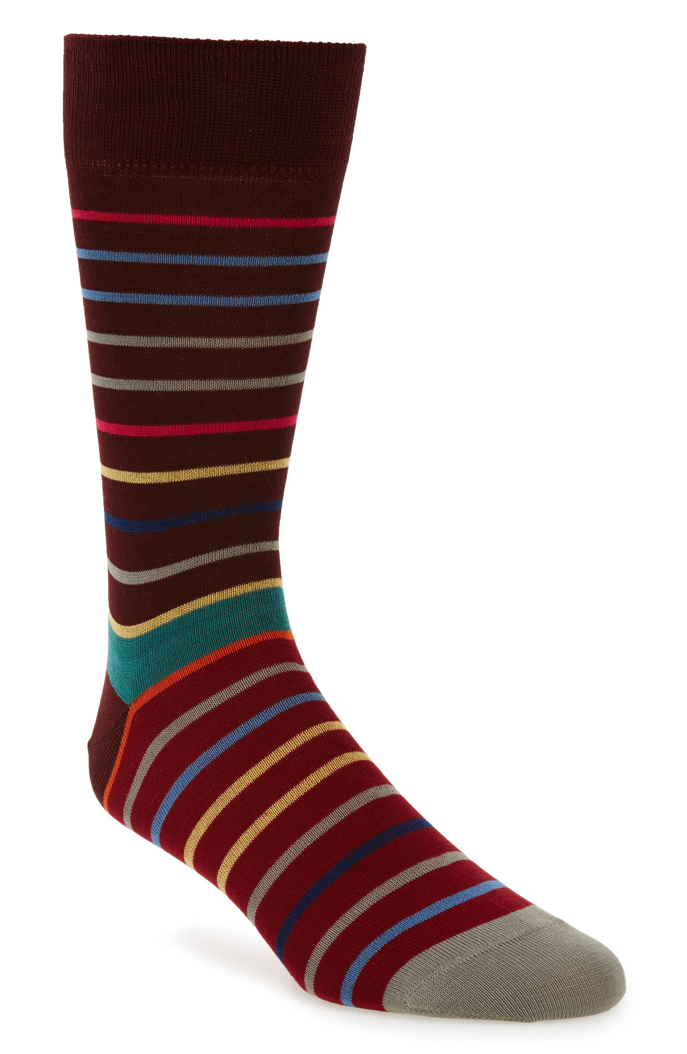Echo Stripe Socks,                         Main,                         color, 001