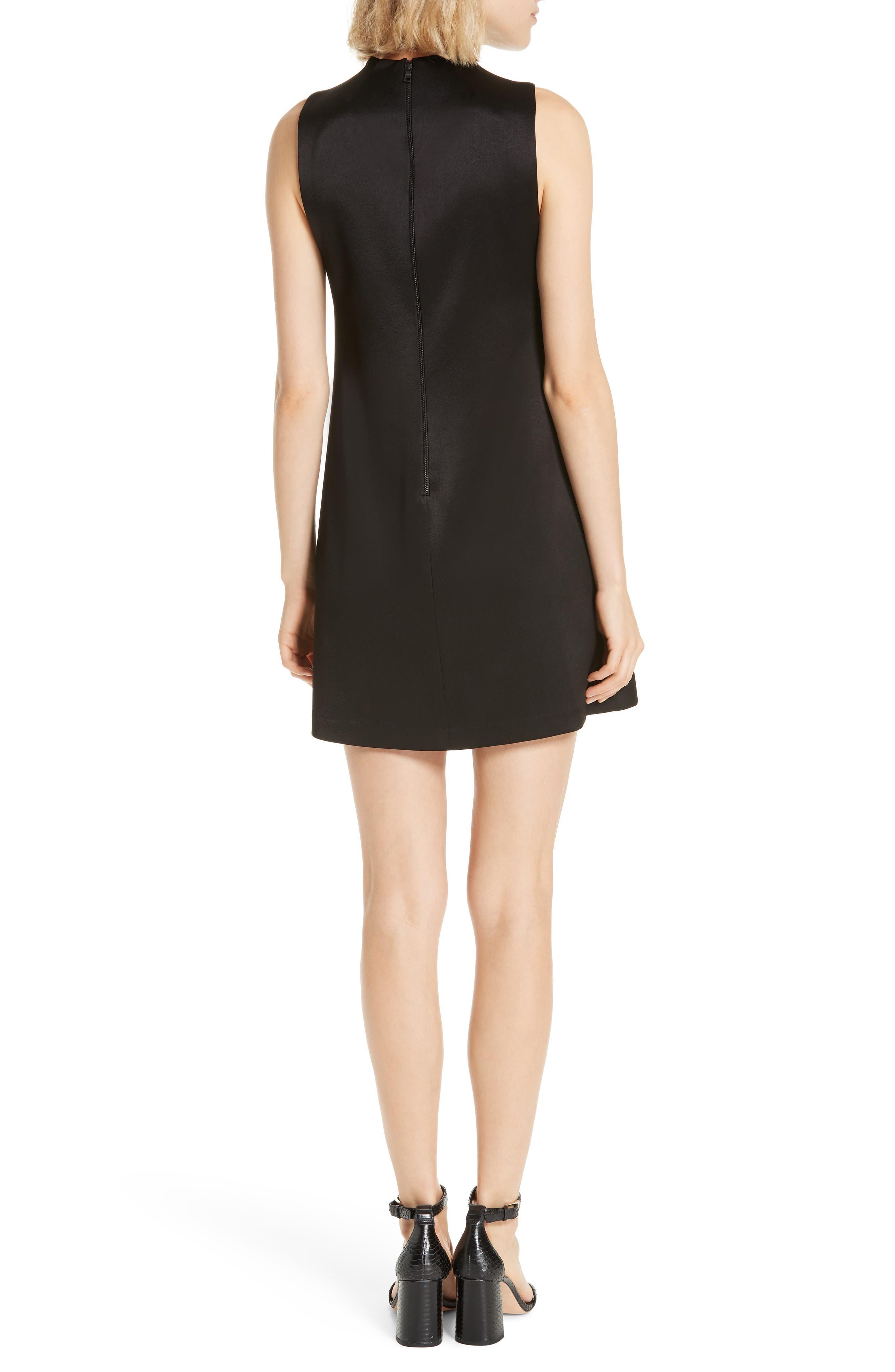 ALICE + OLIVIA,                             Coley A-Line Shift Dress,                             Alternate thumbnail 2, color,                             BLACK