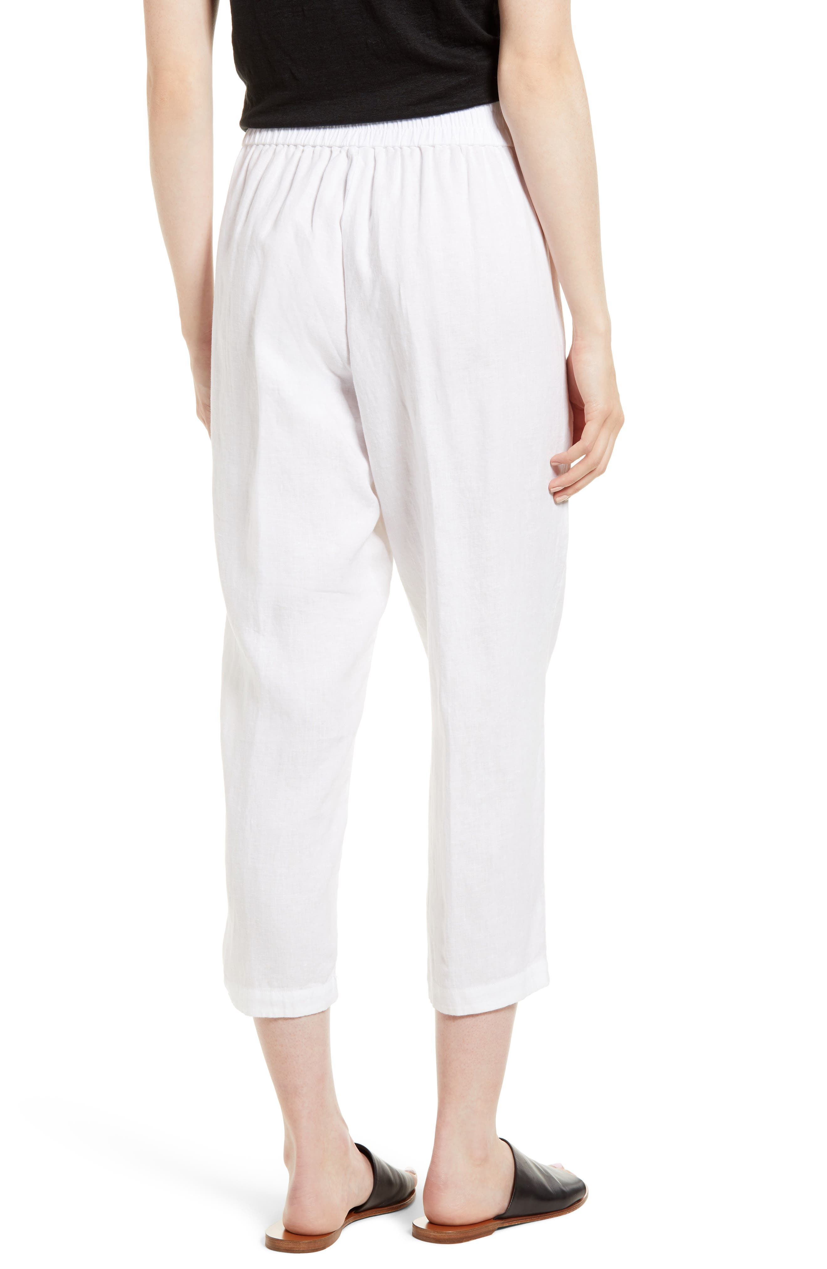 Organic Linen Crop Pants,                             Alternate thumbnail 7, color,