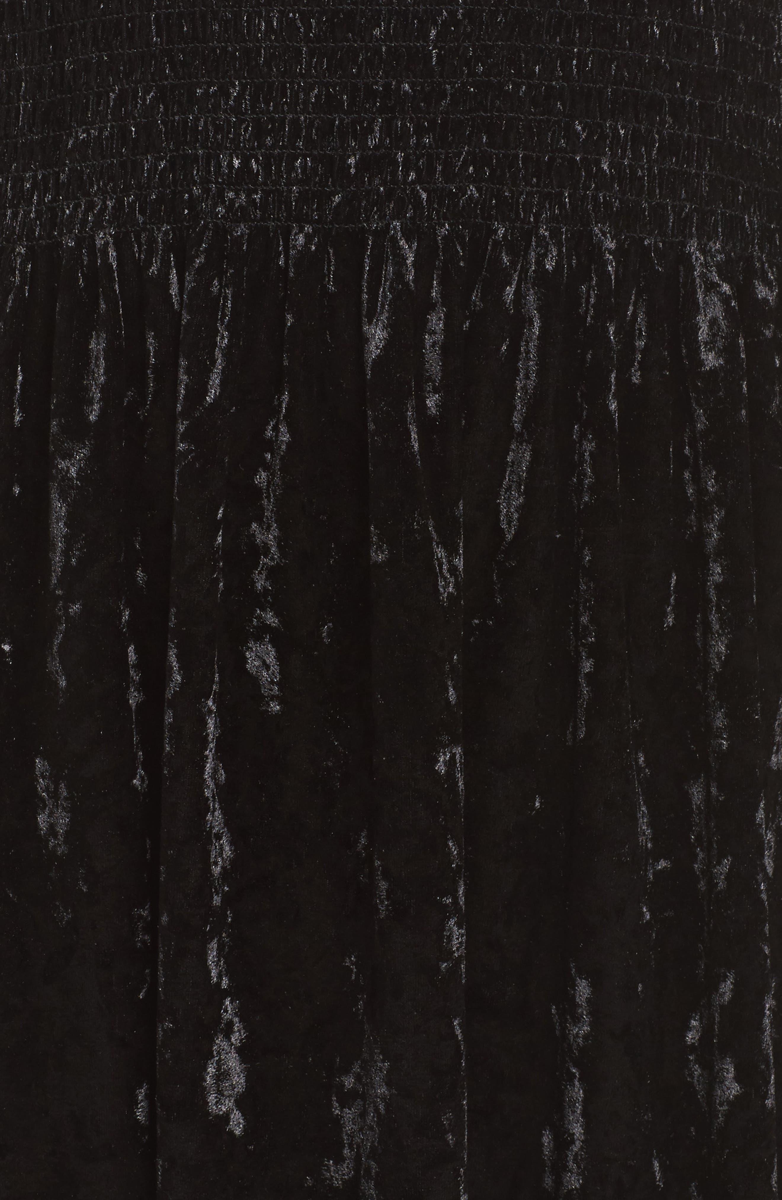Donella Off the Shoulder Velvet Dress,                             Alternate thumbnail 5, color,