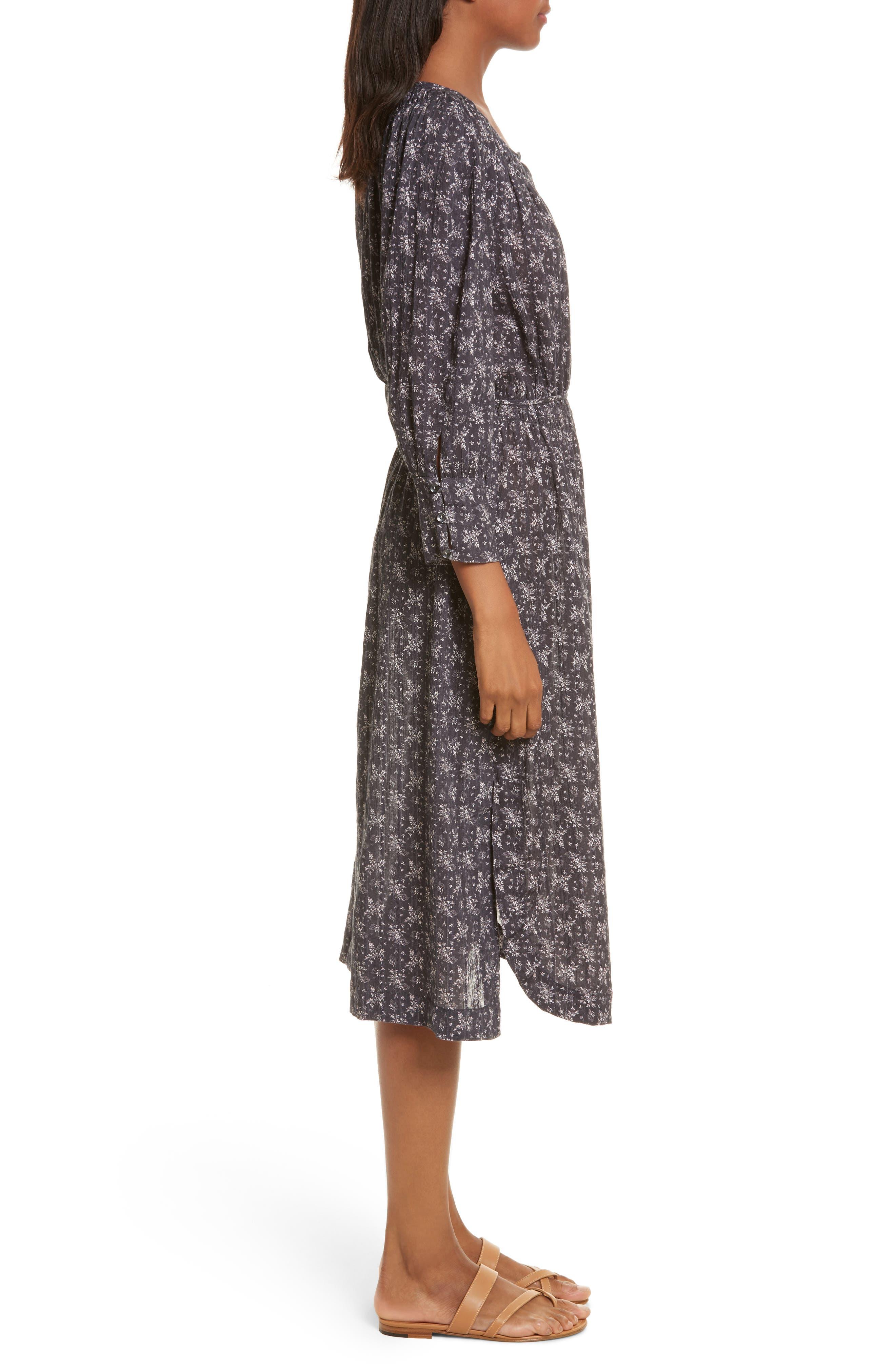 Angelique Long Sleeve Dress,                             Alternate thumbnail 3, color,                             014