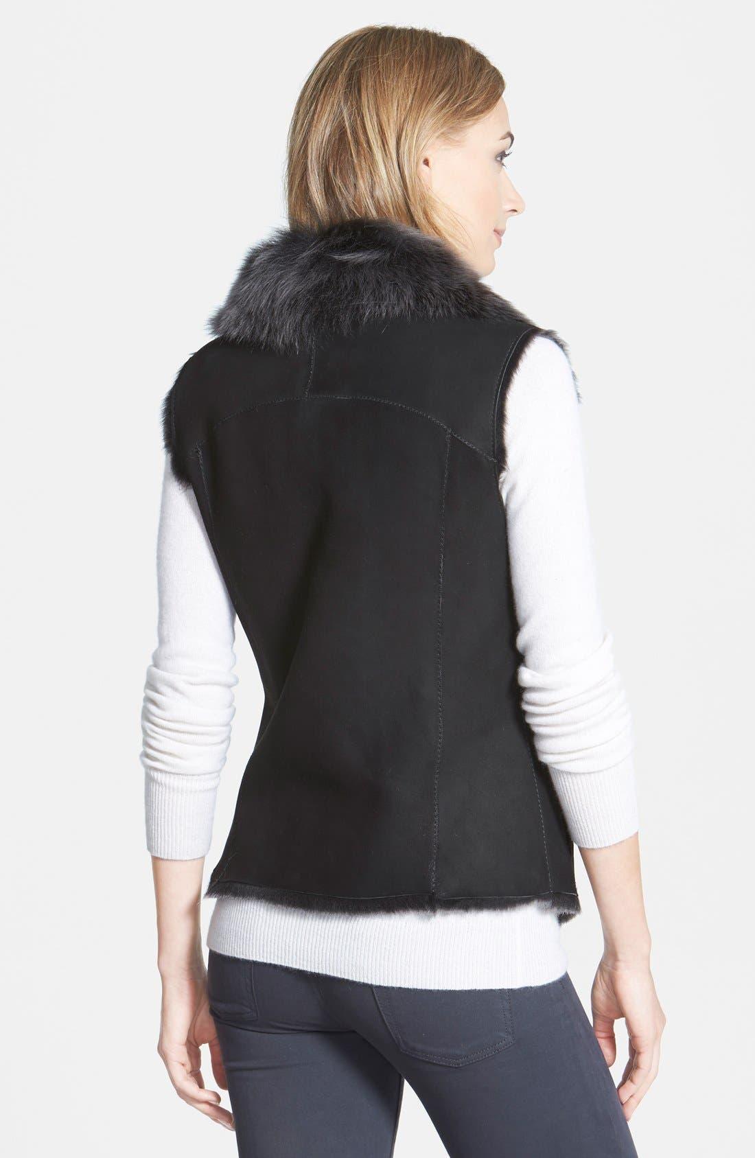 HIDESOCIETY 'Nice' Genuine Toscana Shearling Vest,                             Alternate thumbnail 3, color,                             002