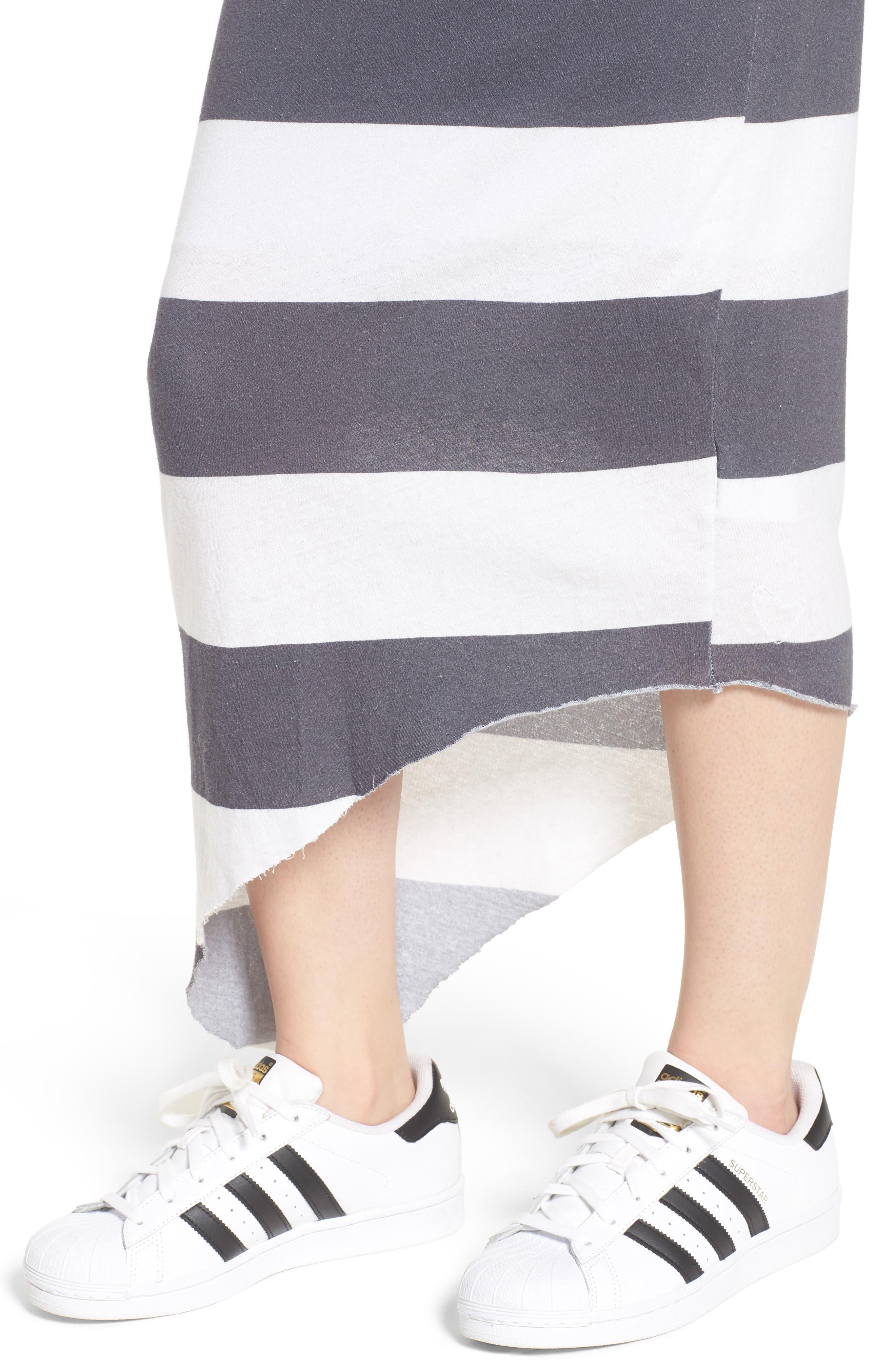 Stripe Asymmetrical Skirt,                             Alternate thumbnail 4, color,                             020
