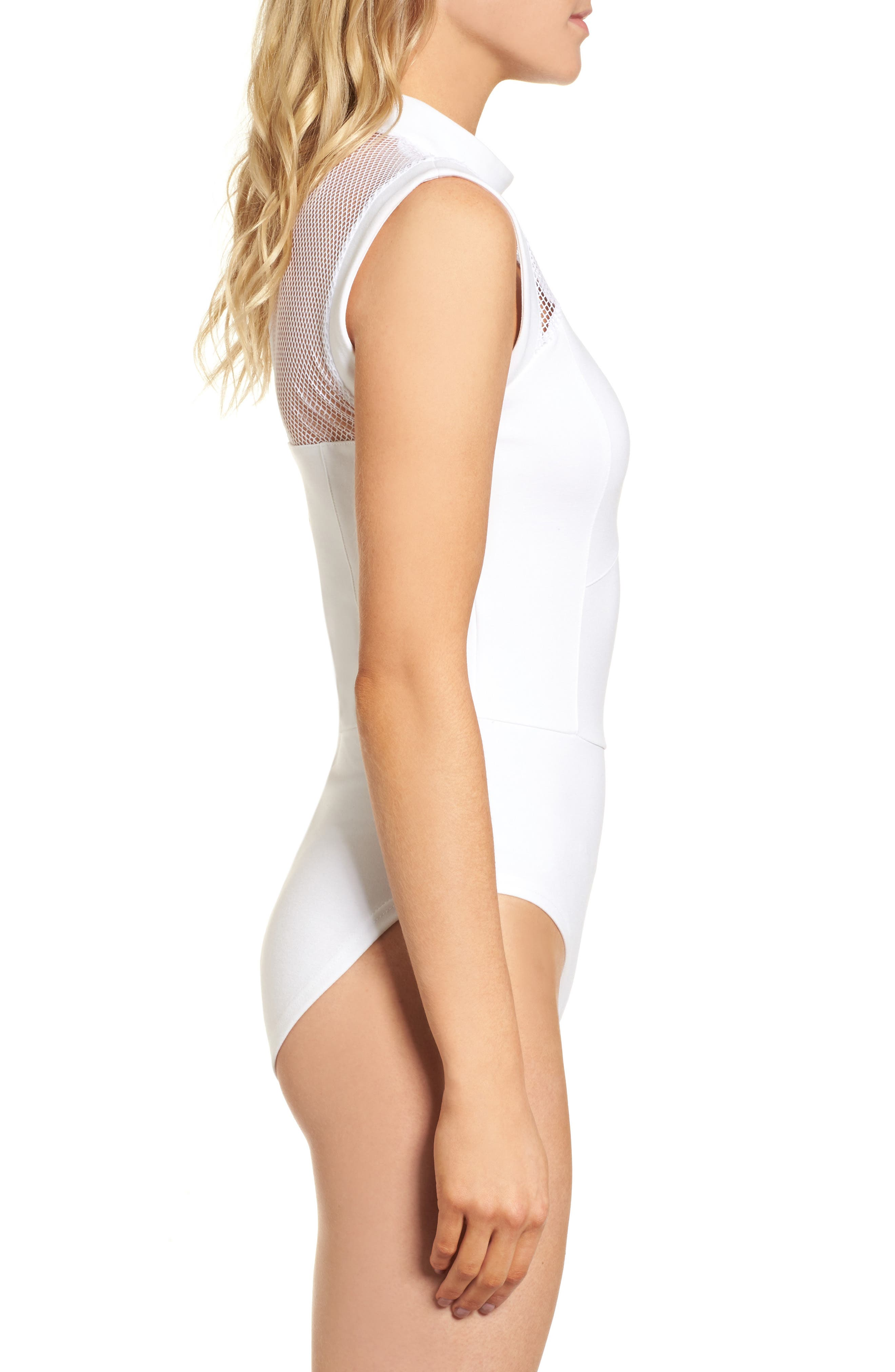 Galactica Bodysuit,                             Alternate thumbnail 4, color,                             WHITE