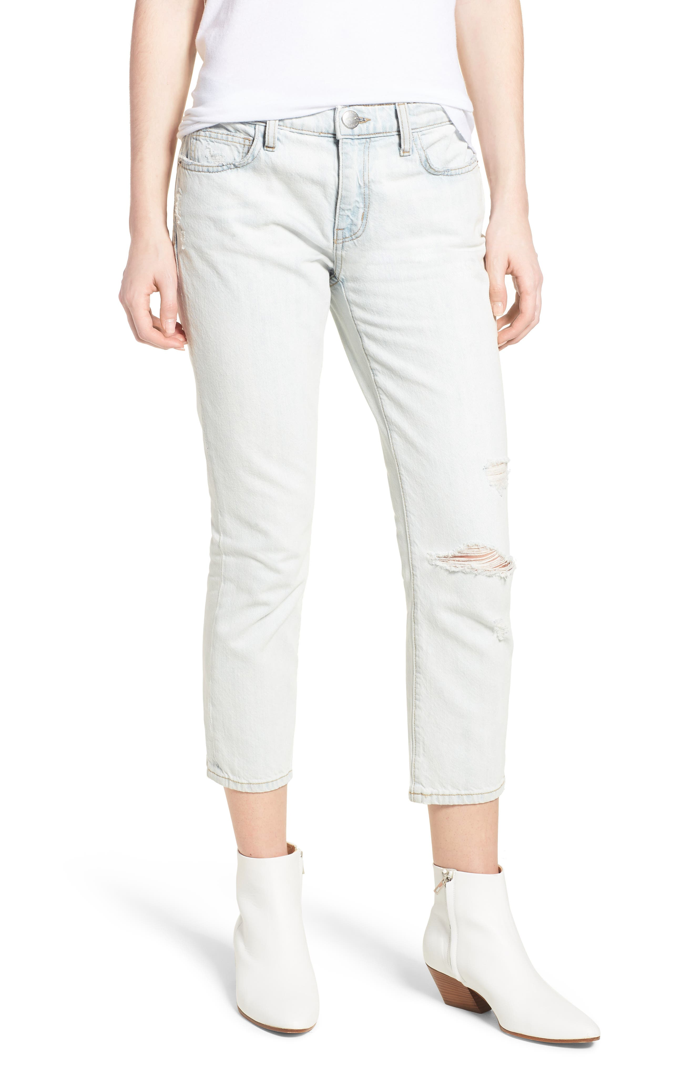 The Cropped Straight Leg Jeans,                         Main,                         color, 471