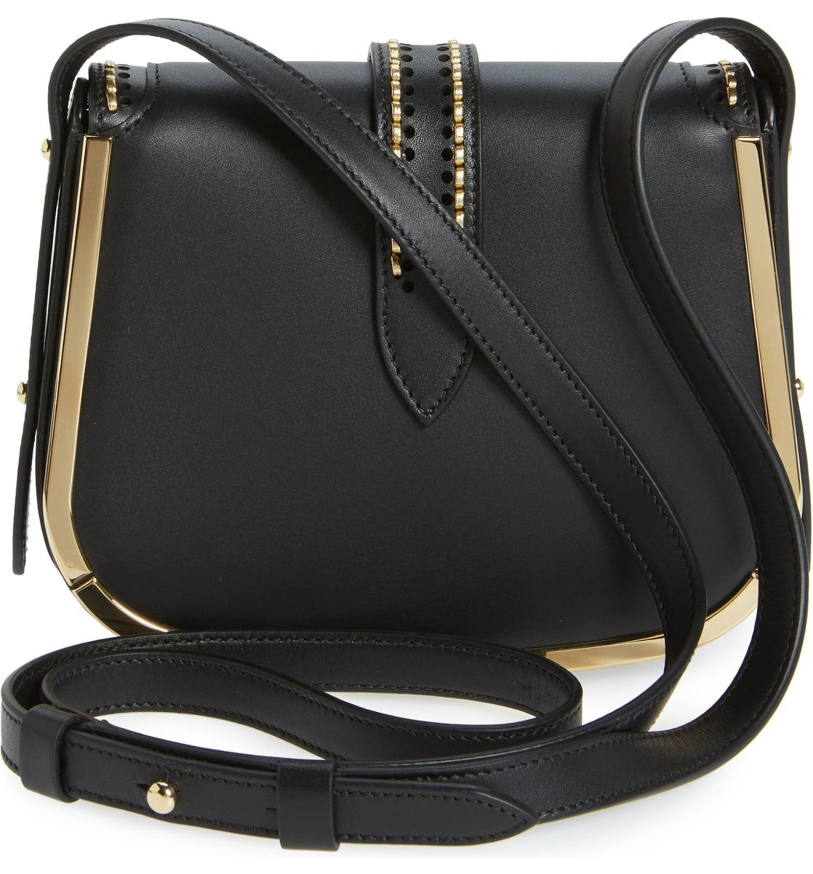 Salvatore Ferragamo  Sabine  Nappa Leather Saddle Bag  e0c37ff12291a
