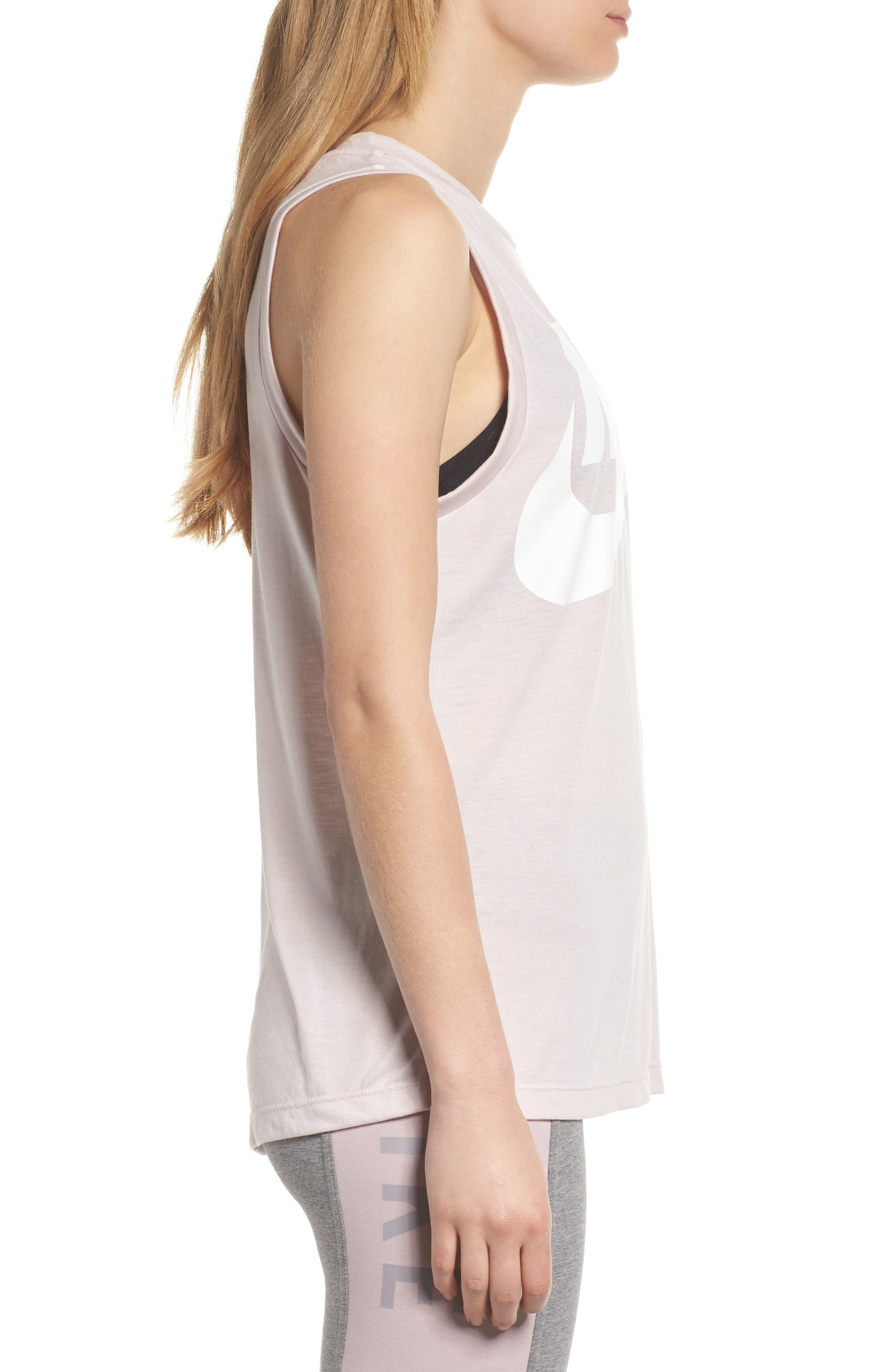 Sportswear Essential Women's Tank,                             Alternate thumbnail 3, color,                             BARELY ROSE/ BARELY ROSE