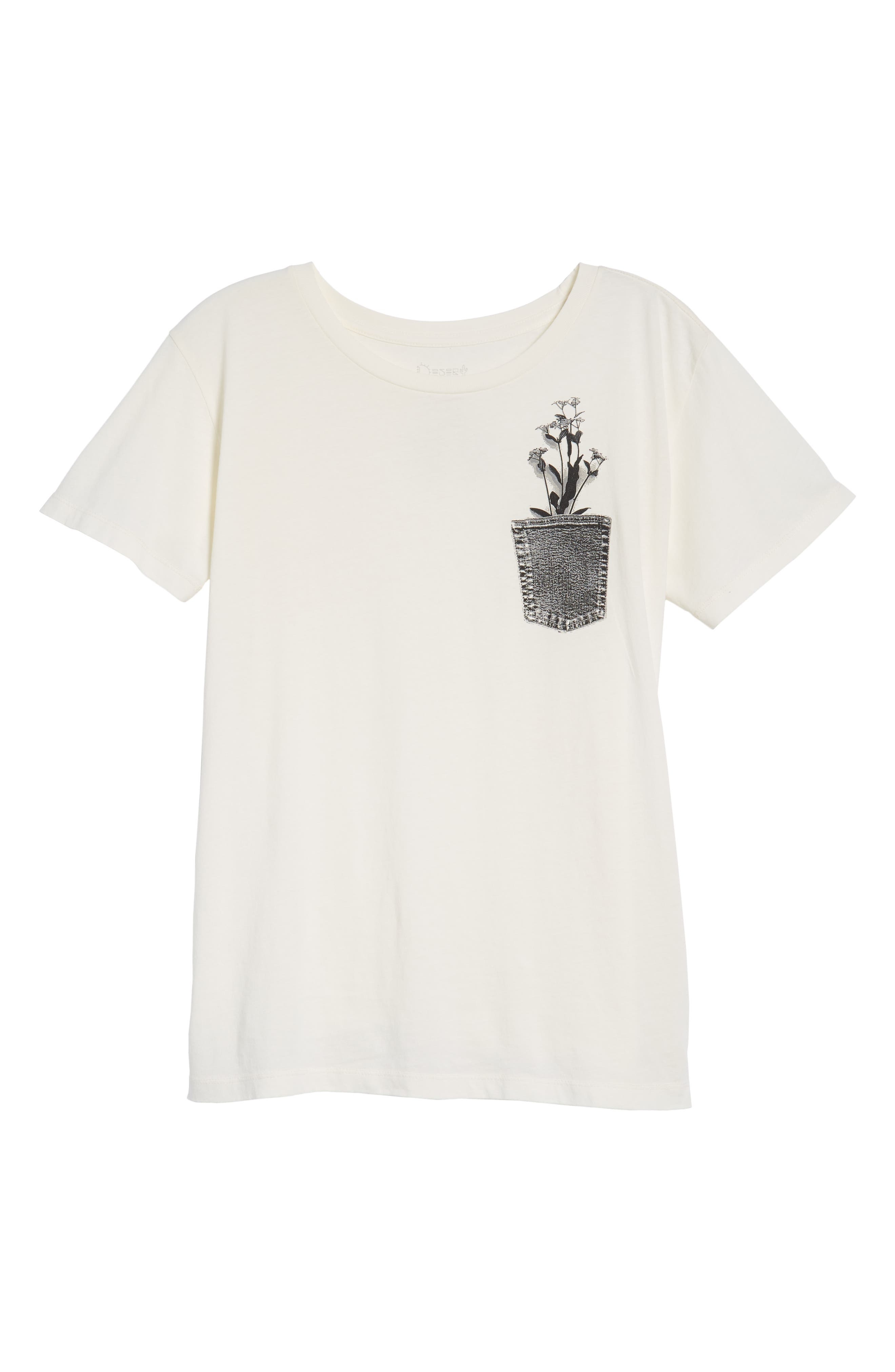 Flower Pocket Tee,                             Alternate thumbnail 7, color,