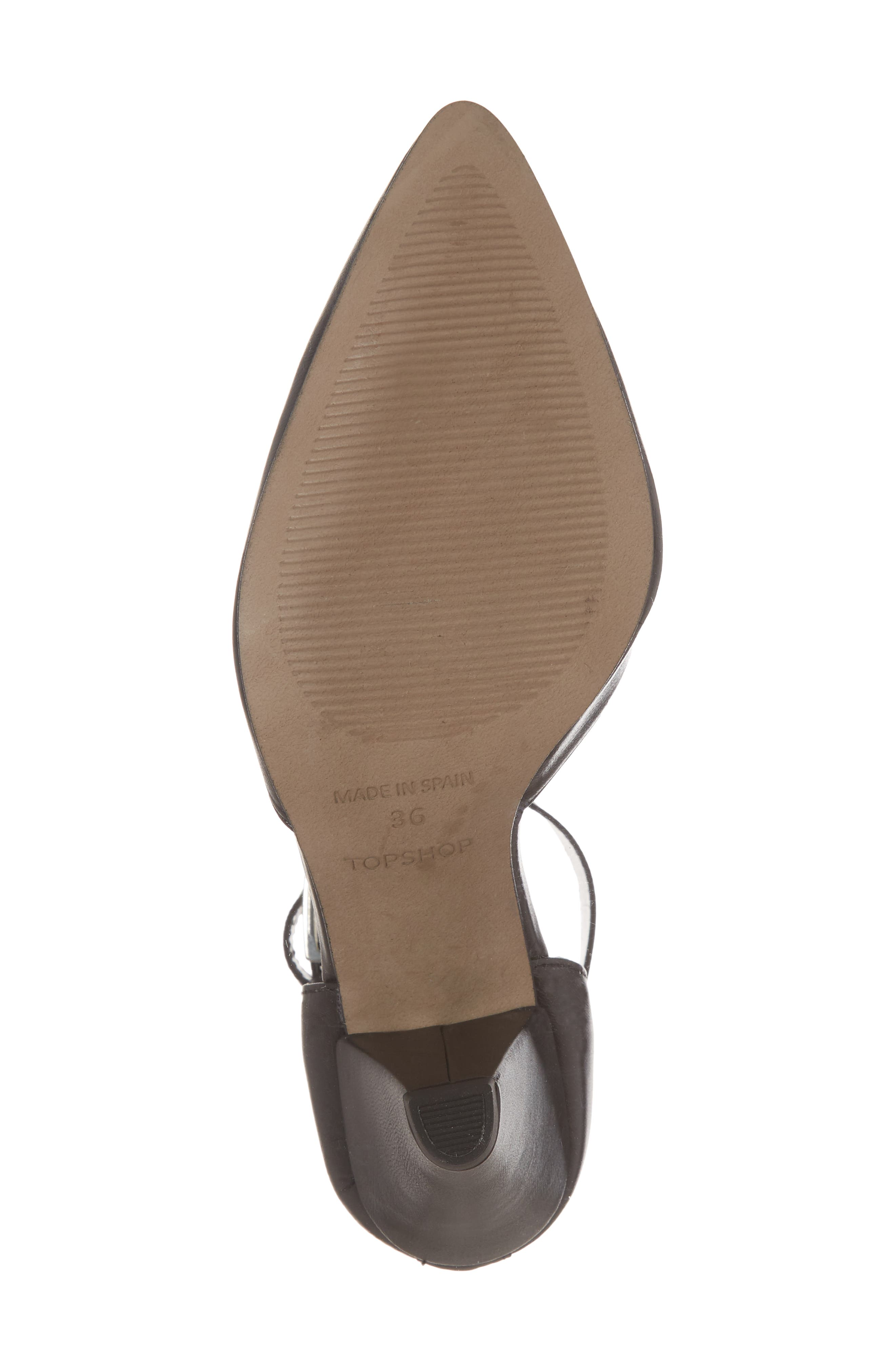 Jazzie Ankle Strap d'Orsay Pump,                             Alternate thumbnail 6, color,                             BLACK