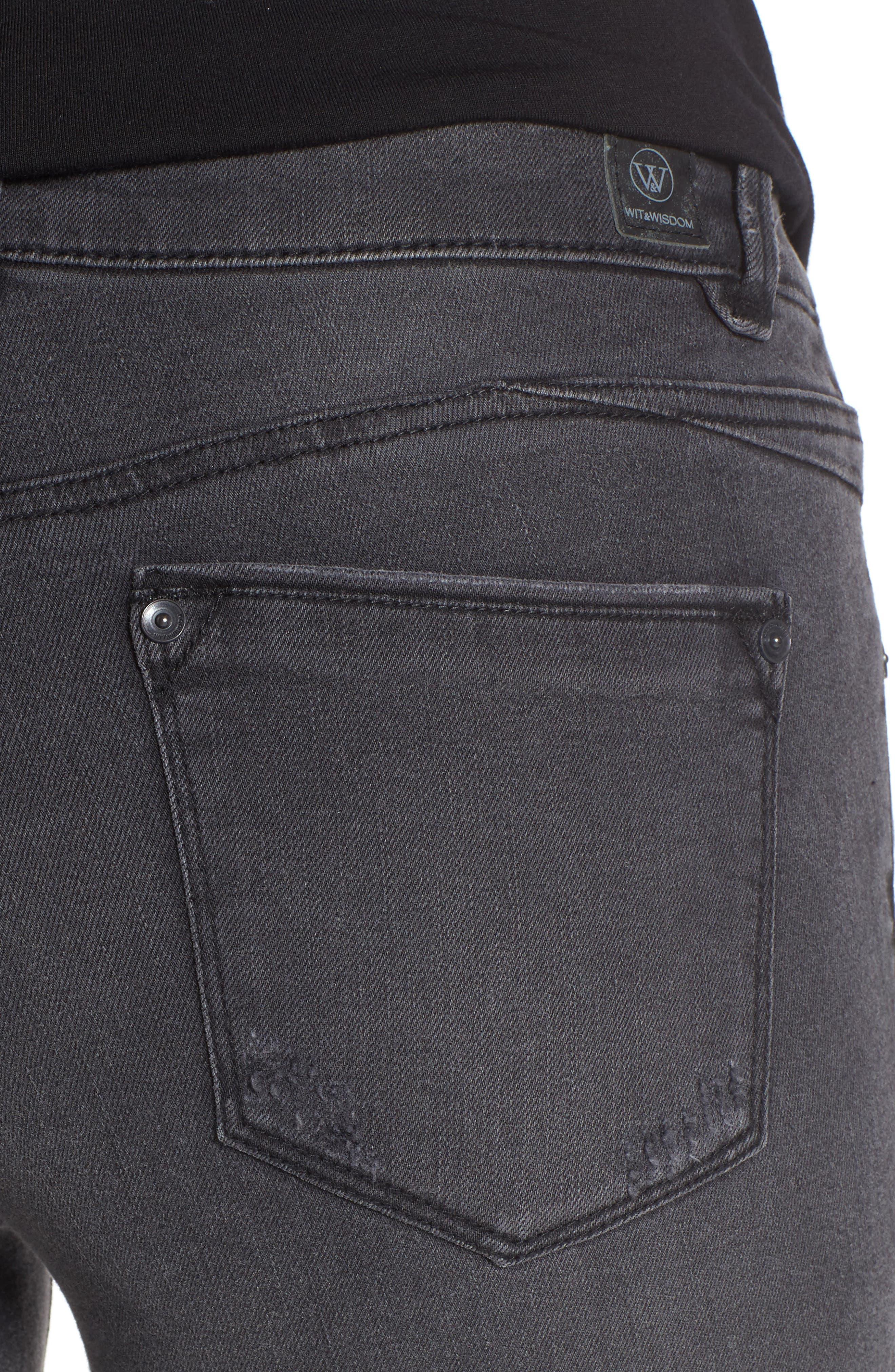 Skinny Ankle Jeans,                             Alternate thumbnail 4, color,                             020