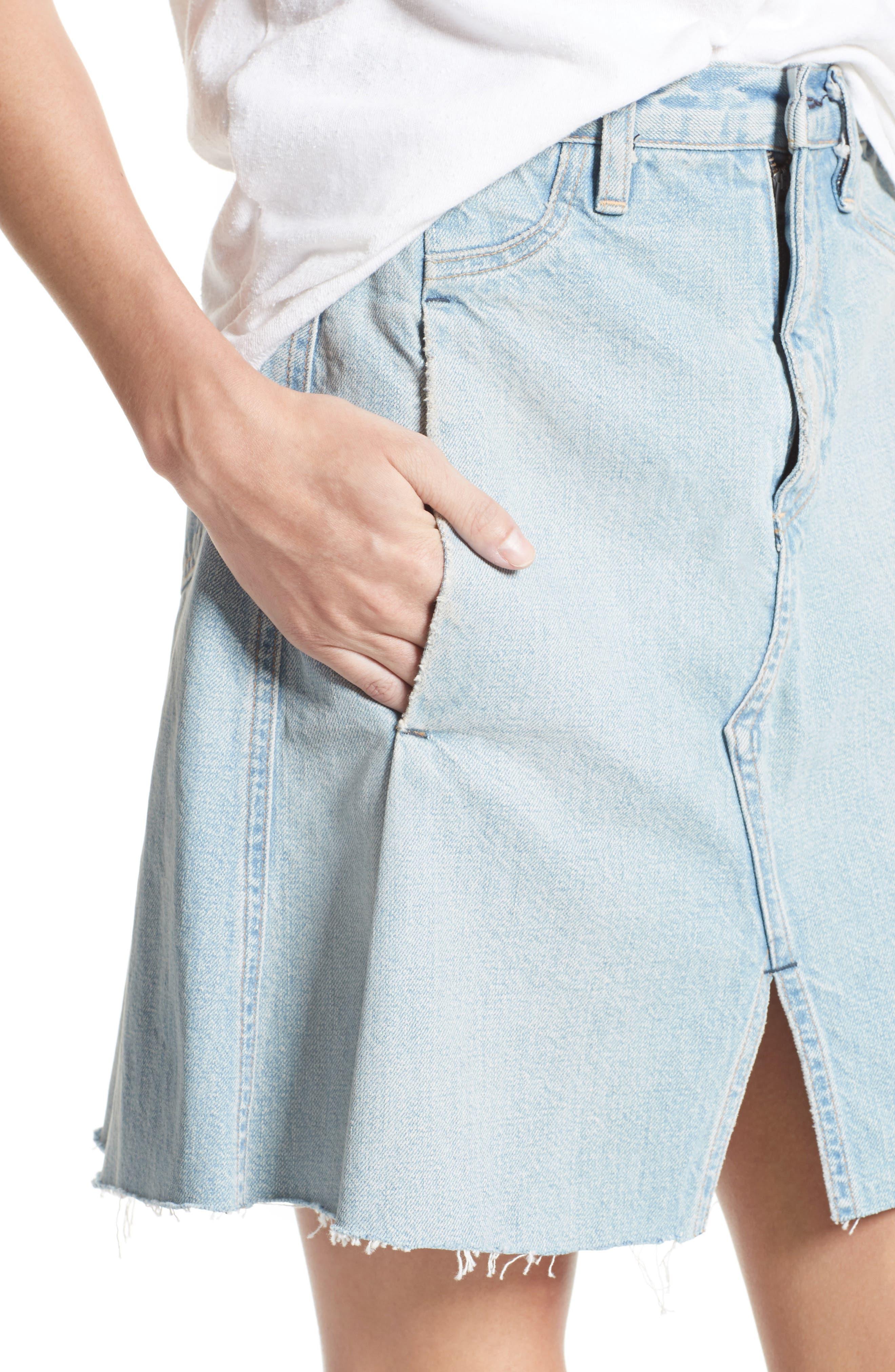 Denim Skirt,                             Alternate thumbnail 4, color,                             400