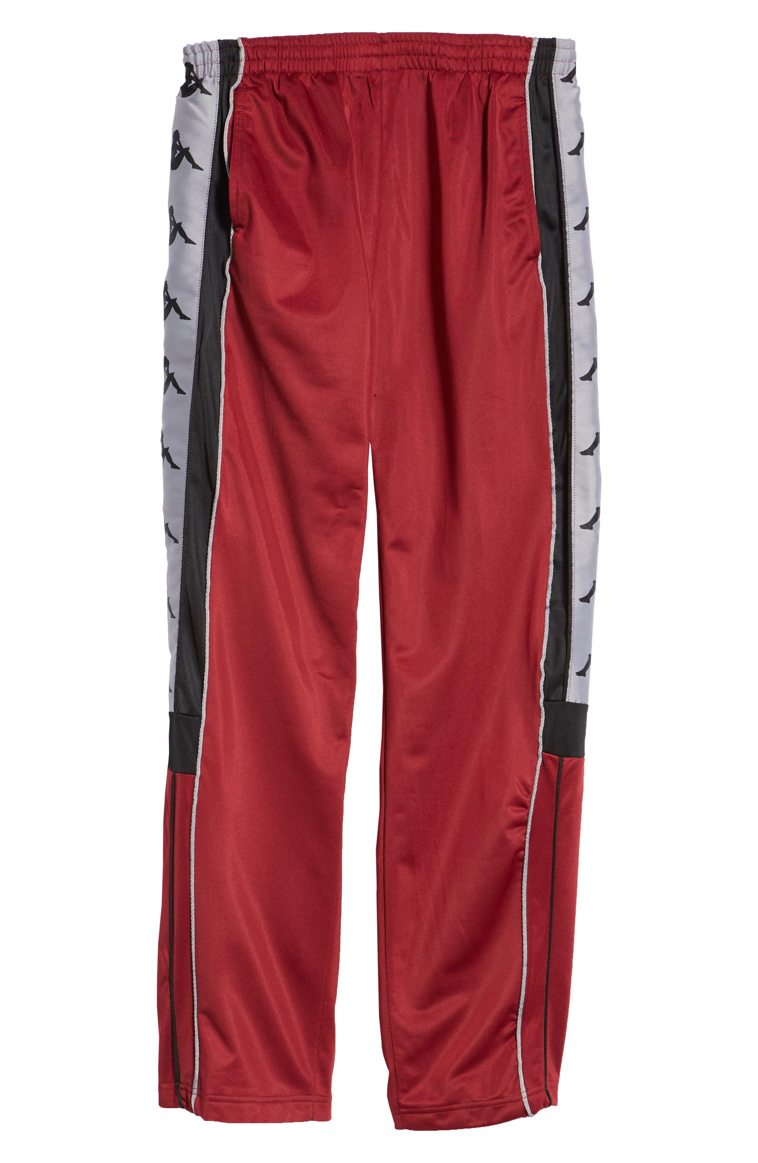 Active 222 Banda Snap-Away Warm-Up Pants,                             Alternate thumbnail 6, color,                             RED BORDEAUX BLACK