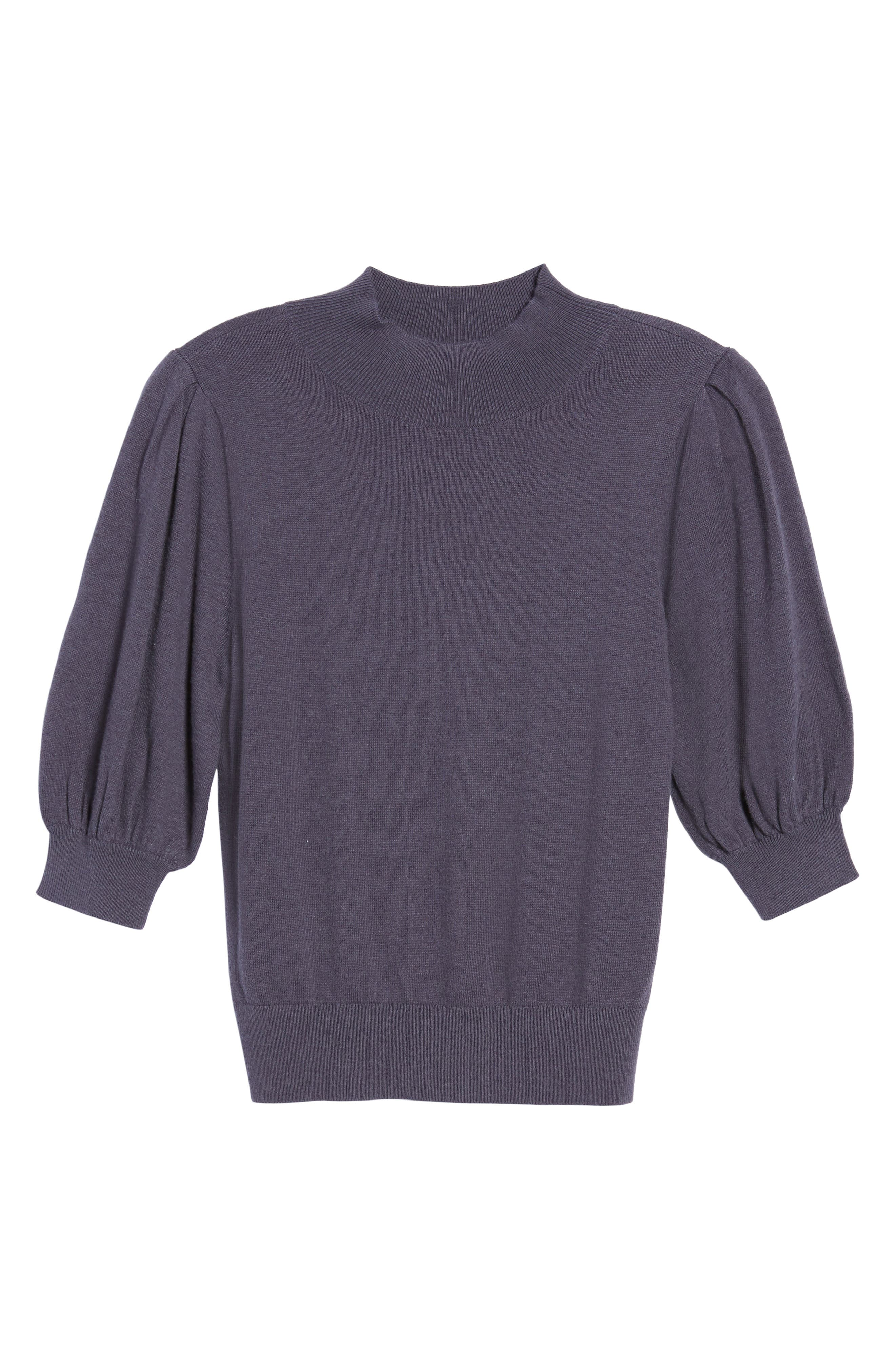 Puff Sleeve Sweater,                             Alternate thumbnail 17, color,