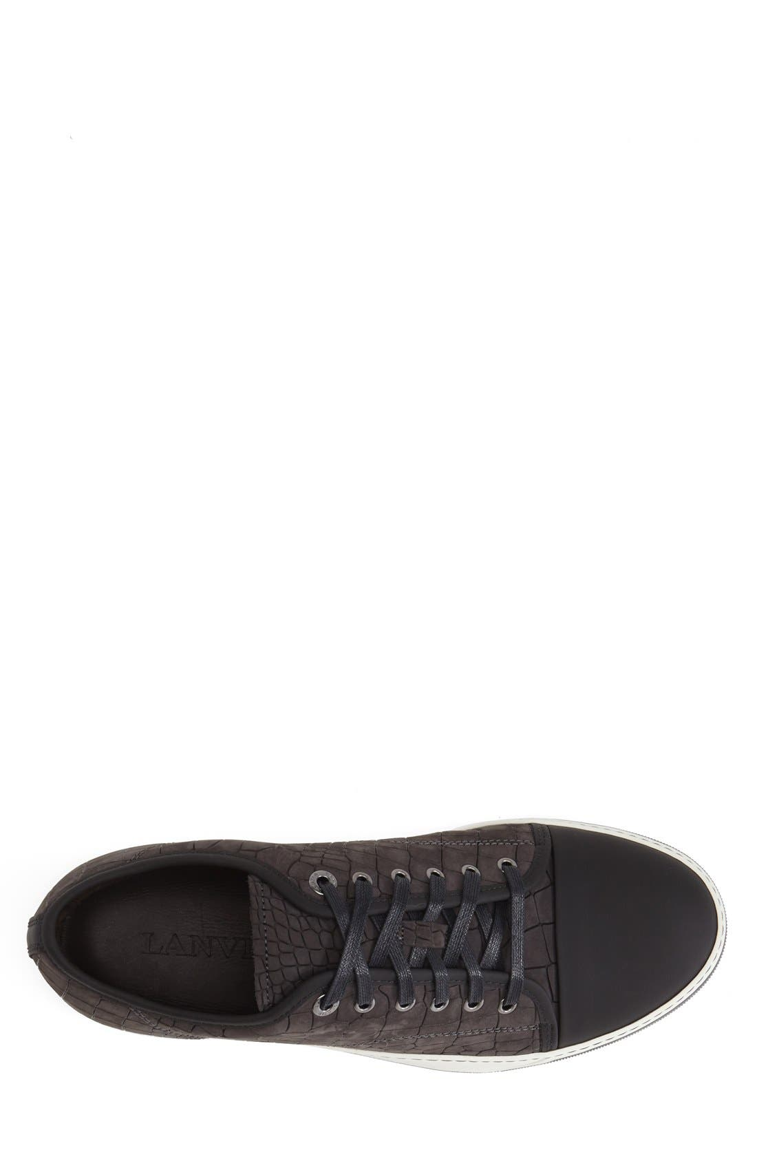 Embossed Nubuck Low Top Sneaker,                             Alternate thumbnail 3, color,                             024