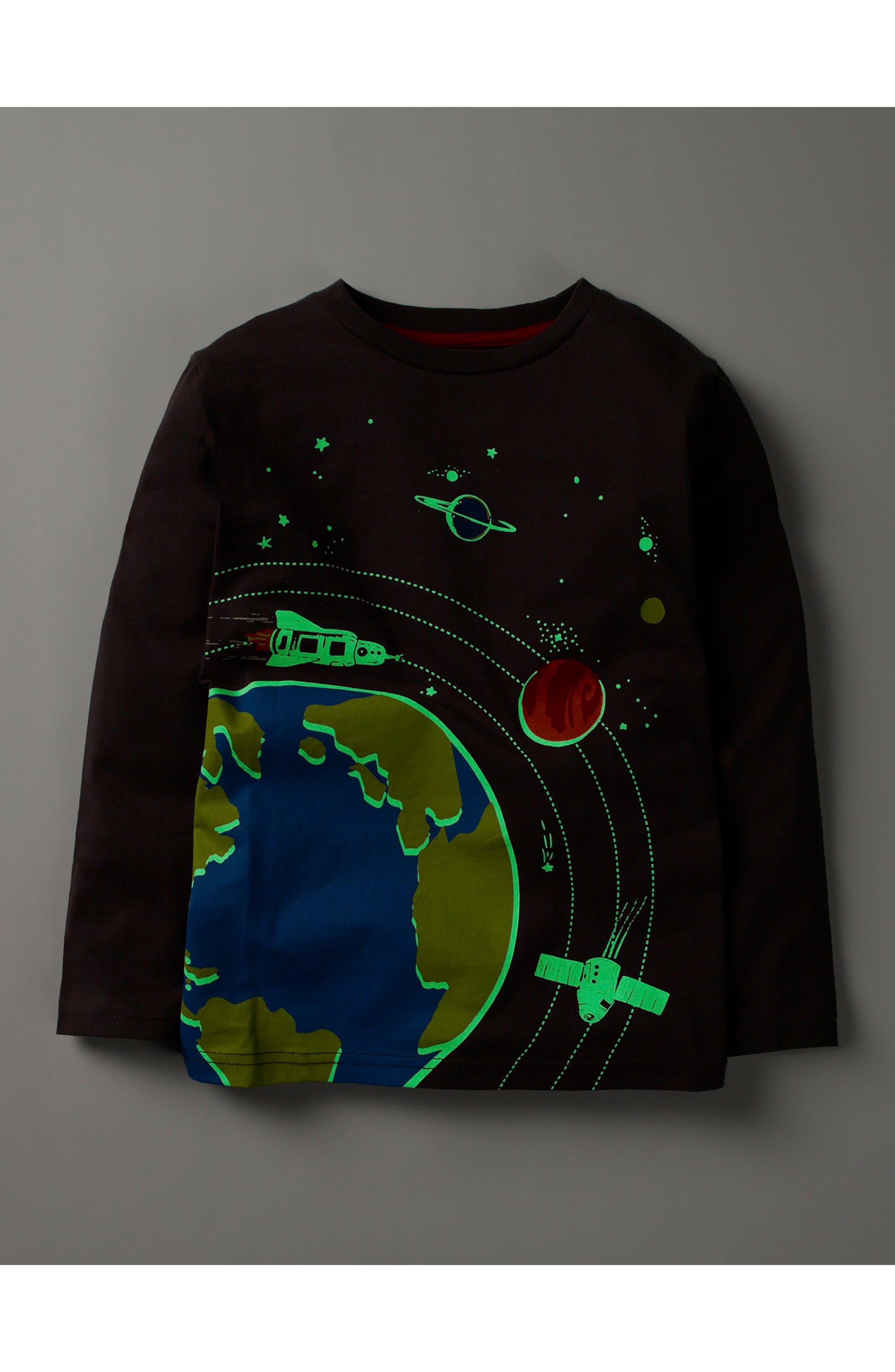 Glow in the Dark Space Long Sleeve T-Shirt,                             Alternate thumbnail 2, color,                             024