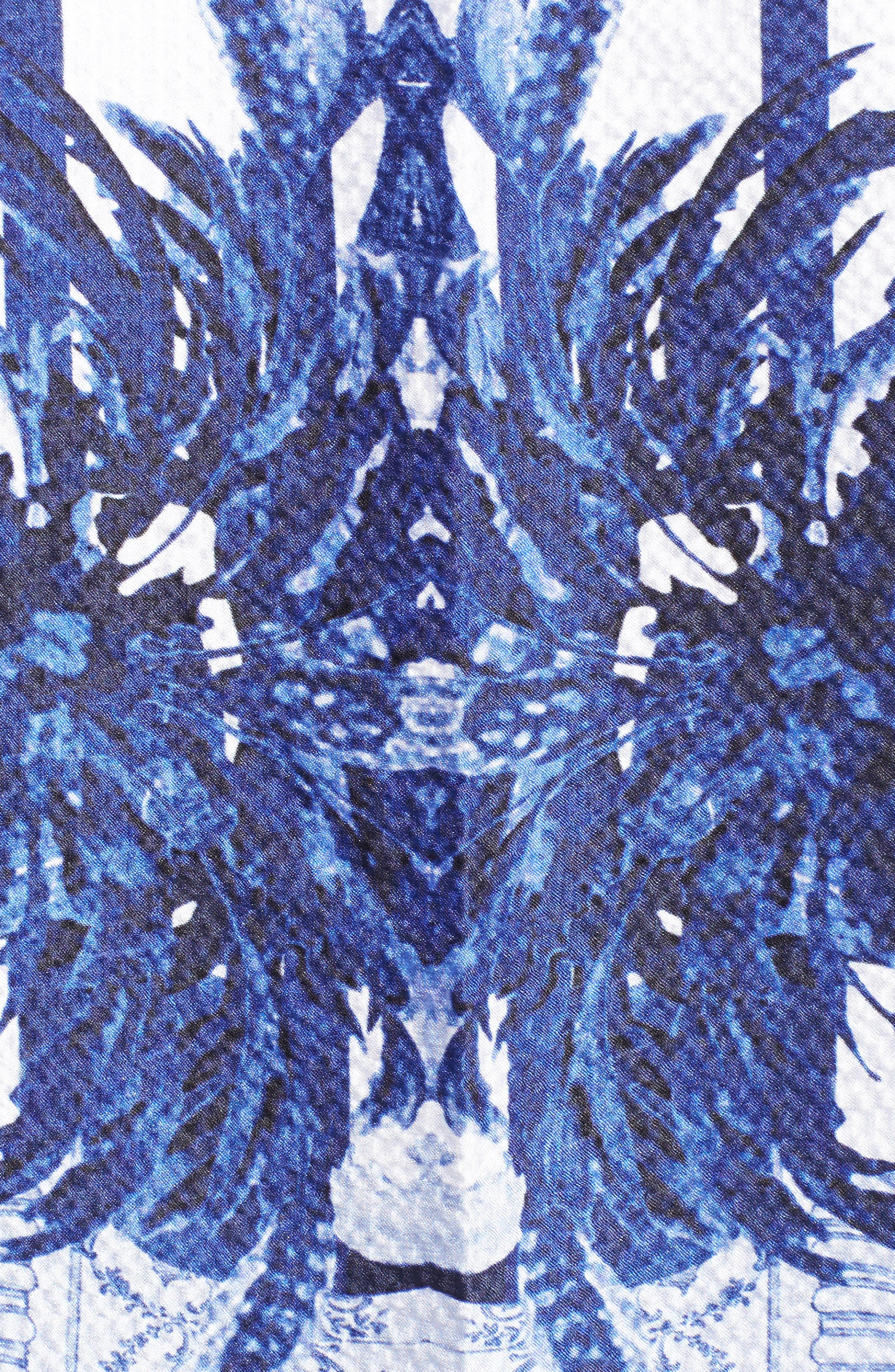 Persian Blue Silk Cape Scarf,                             Alternate thumbnail 5, color,                             410