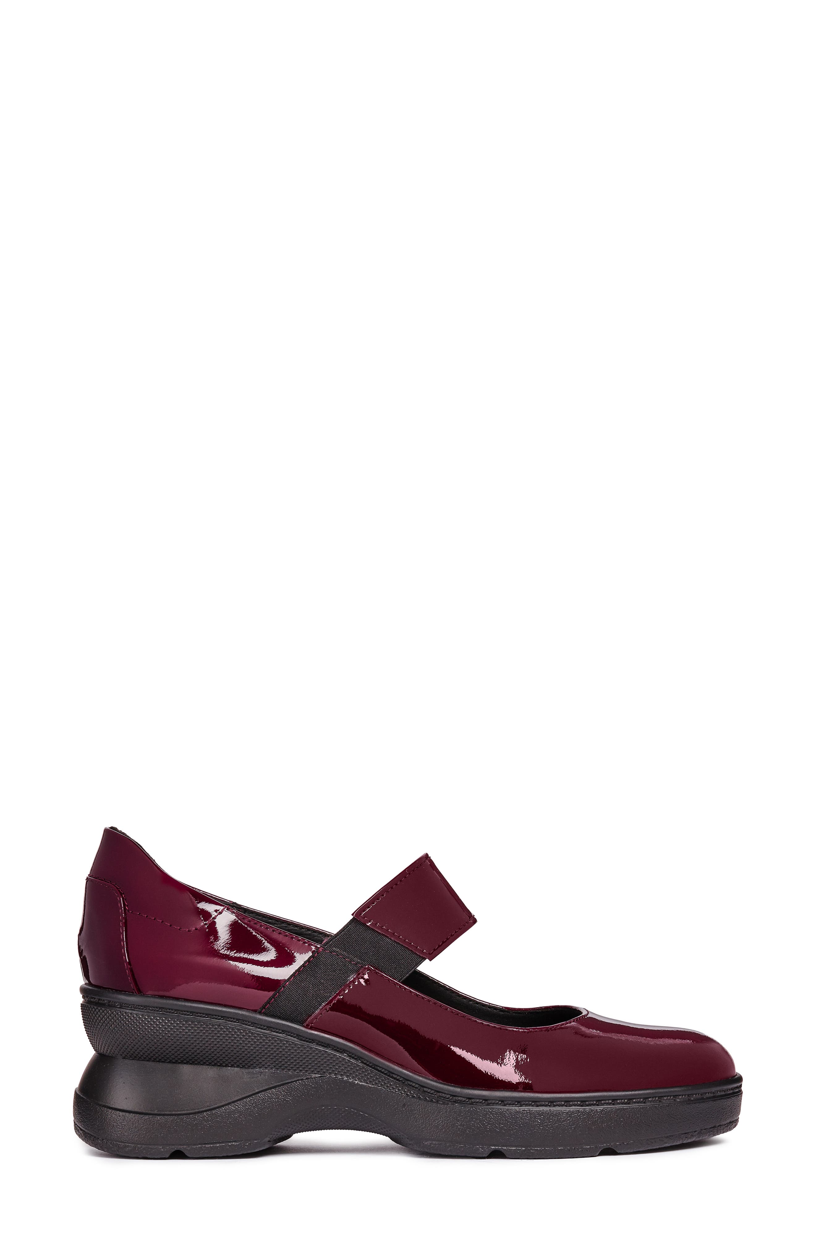 Ascythia Mary Jane Wedge,                             Alternate thumbnail 3, color,                             BORDEAUX LEATHER