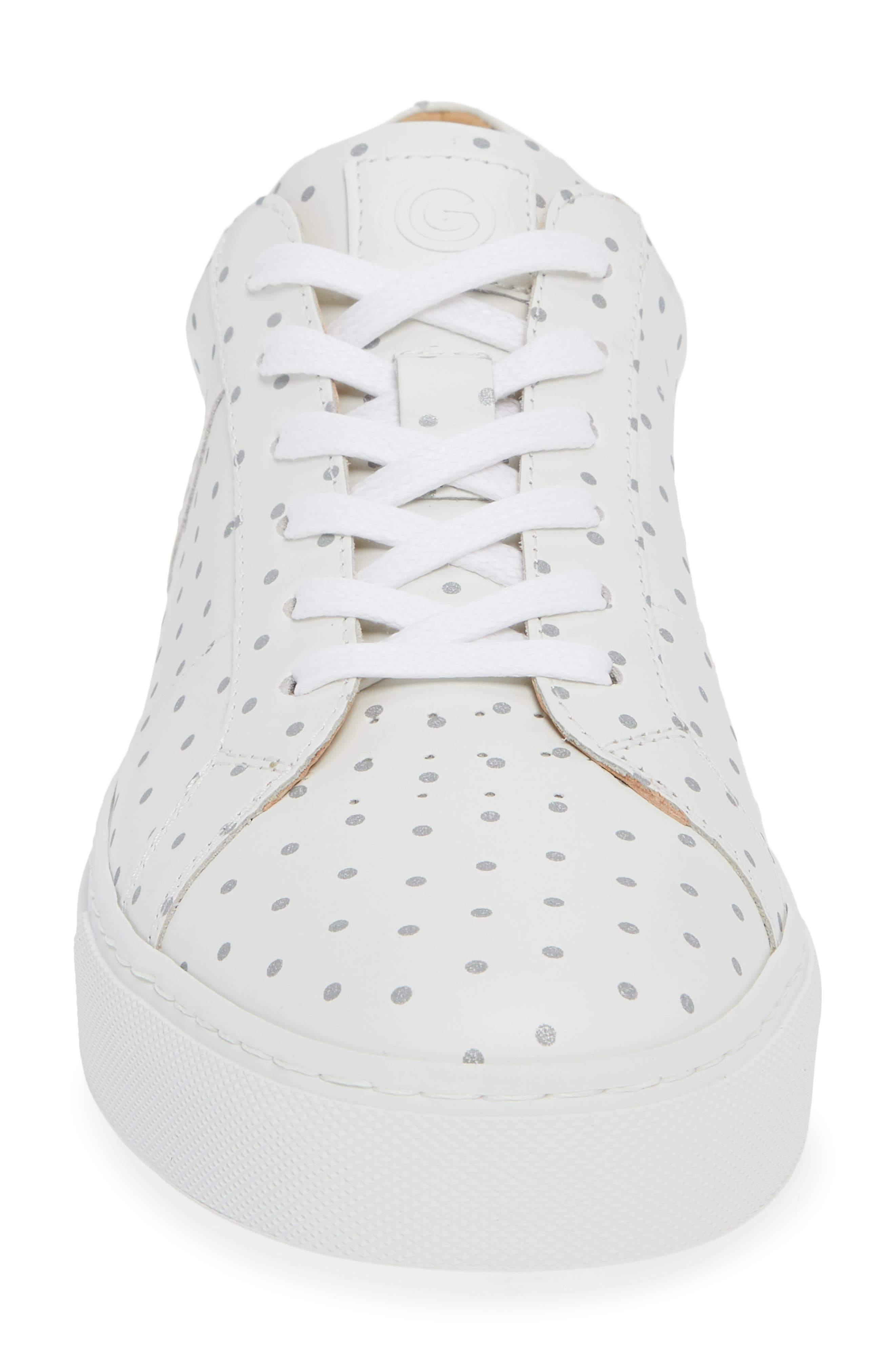 Nick Wooster x GREATS Royale Dots Low Top Sneaker,                             Alternate thumbnail 4, color,                             WHITE W/ 3M DOTS