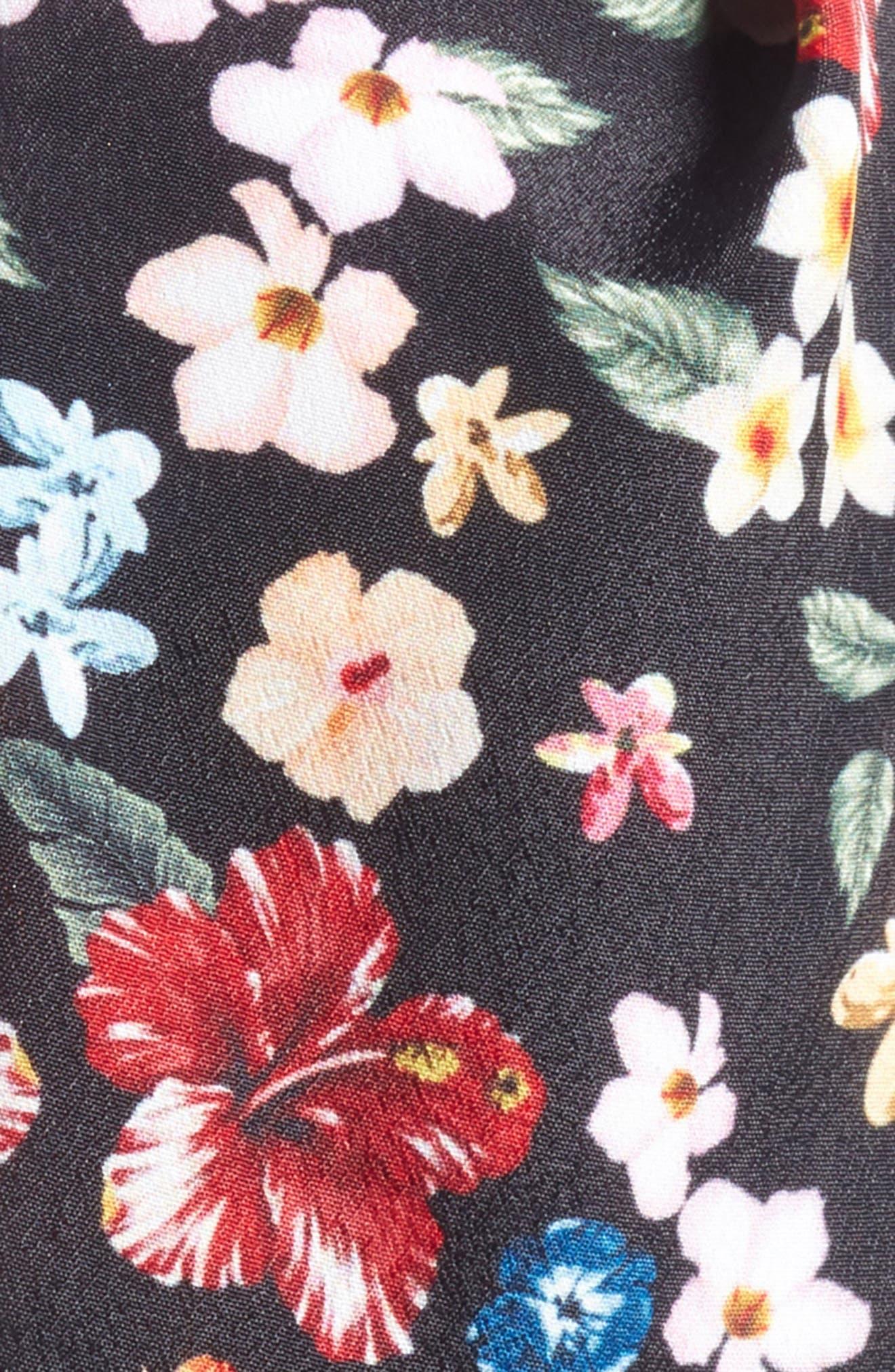 Floral Print Head Wrap,                             Alternate thumbnail 2, color,                             010