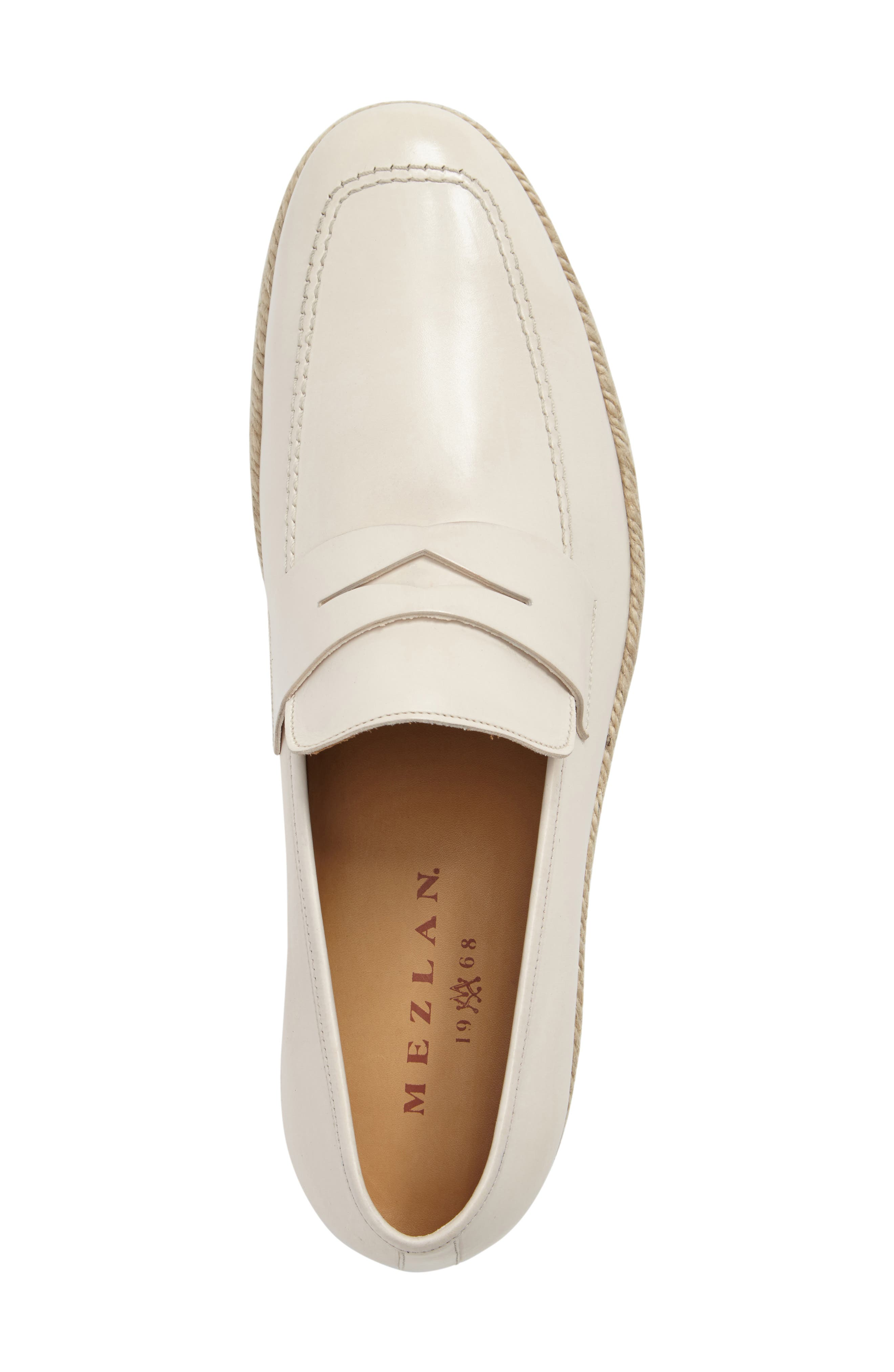 Battani Penny Loafer,                             Alternate thumbnail 5, color,                             BONE LEATHER