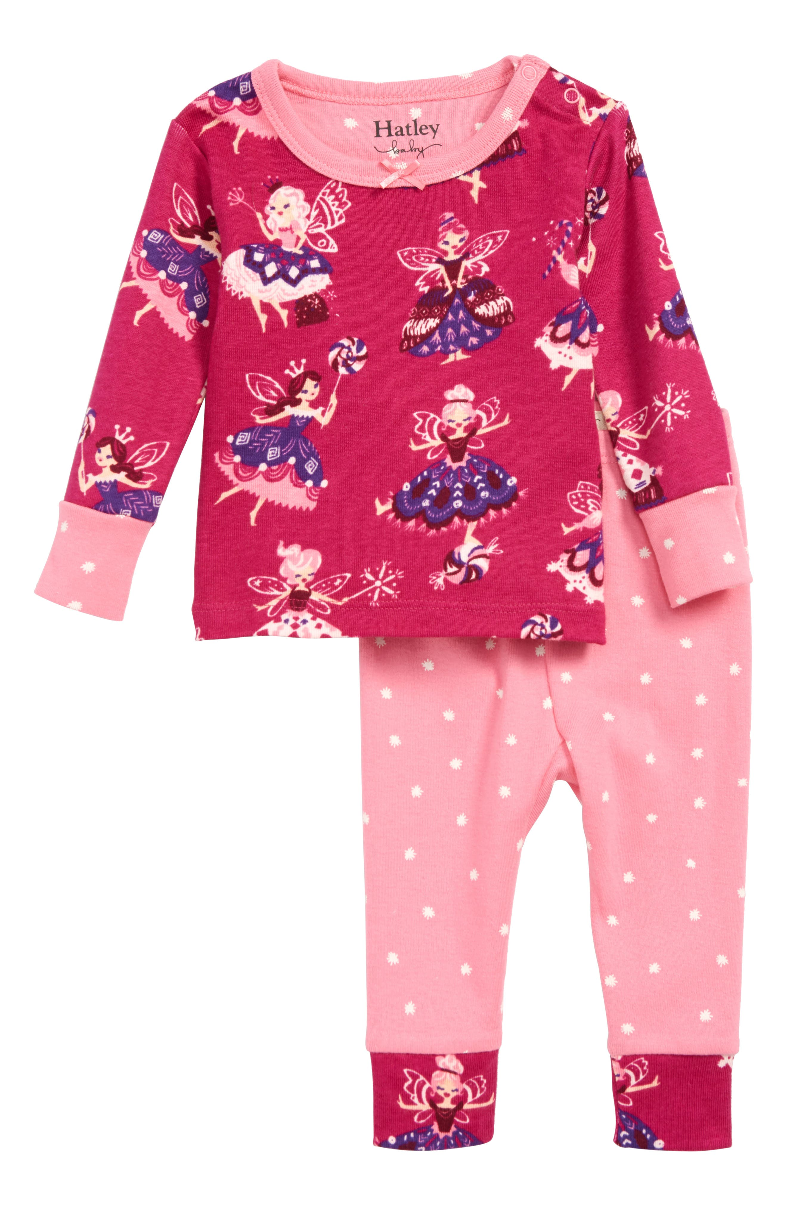 Organic Cotton Fitted Two-Piece Pajamas, Main, color, 650