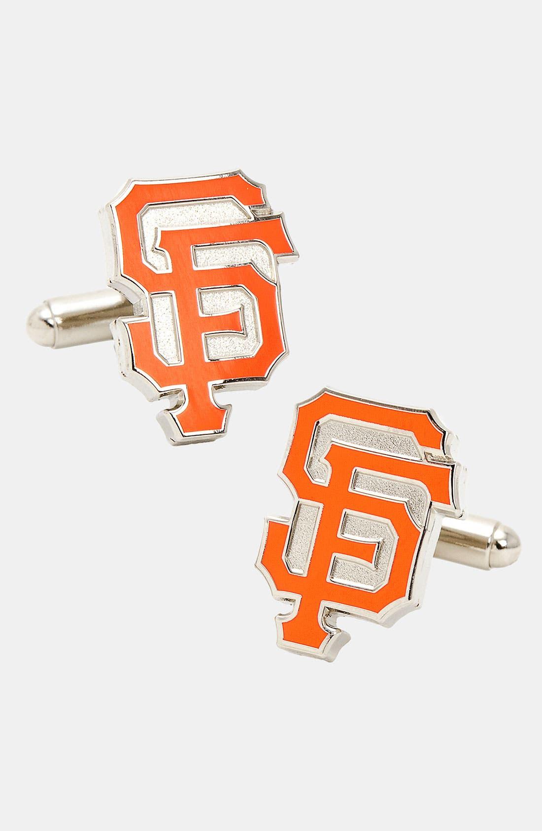 'San Francisco Giants' Cuff Links,                             Main thumbnail 1, color,                             BRIGHT ORANGE
