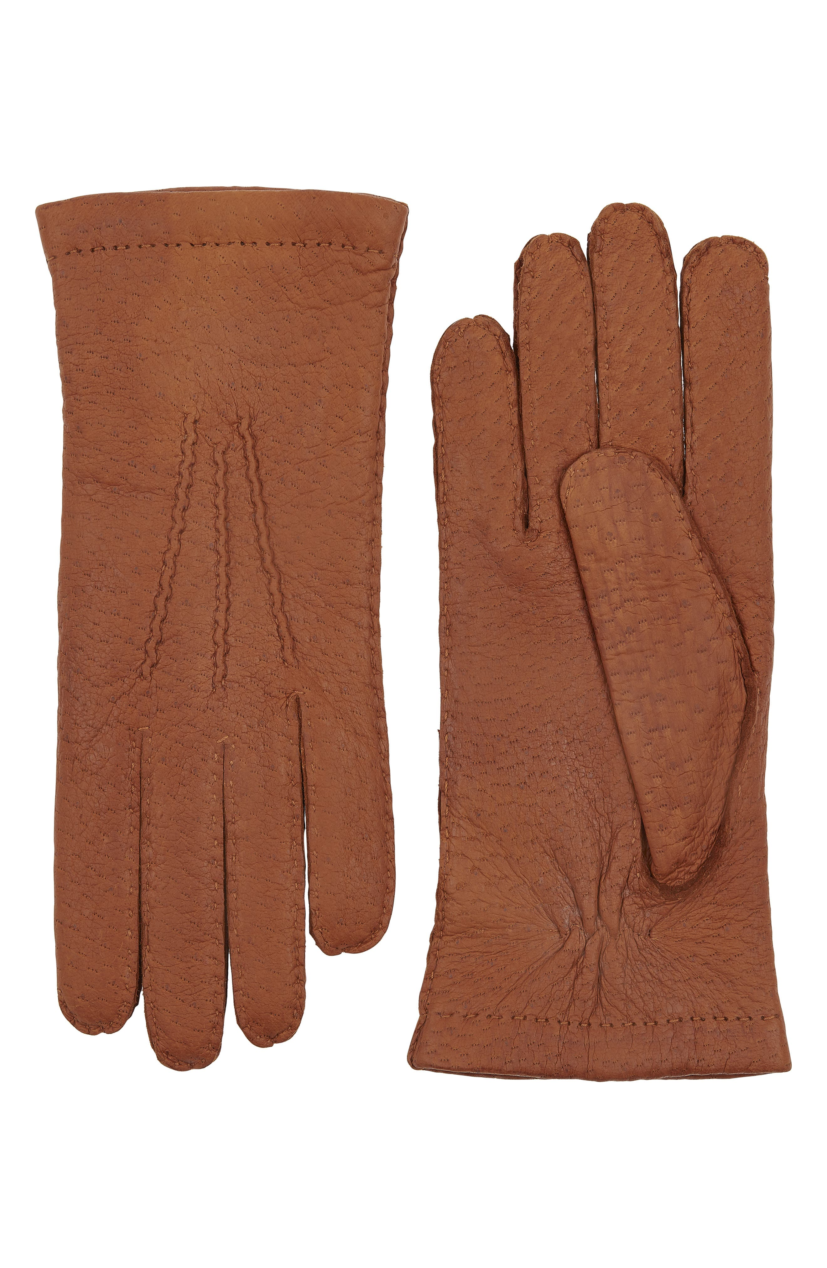 Hestra Peccary Leather Gloves, Brown