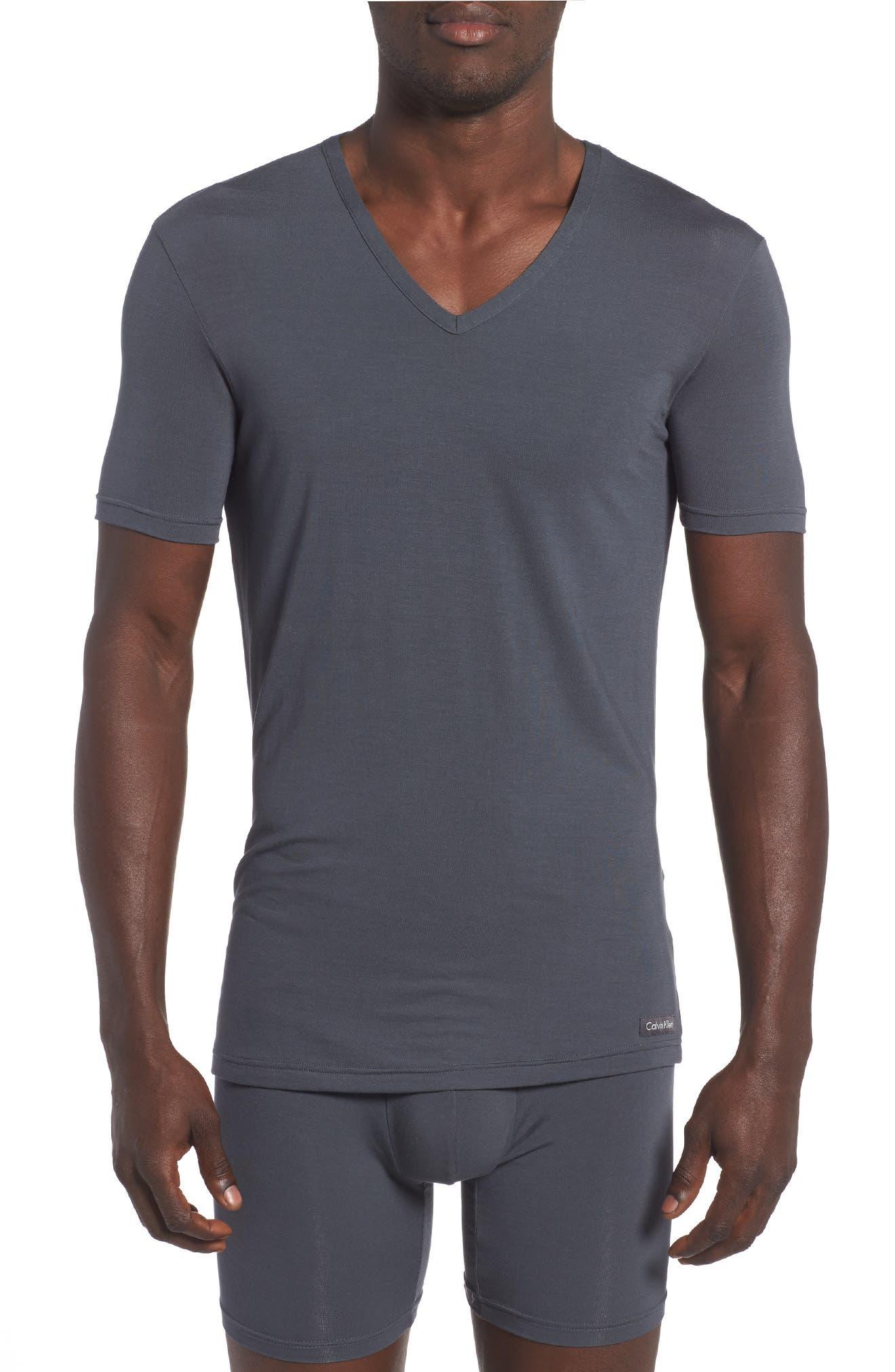 'U5563' V-Neck Micromodal T-Shirt,                             Main thumbnail 1, color,                             MINK