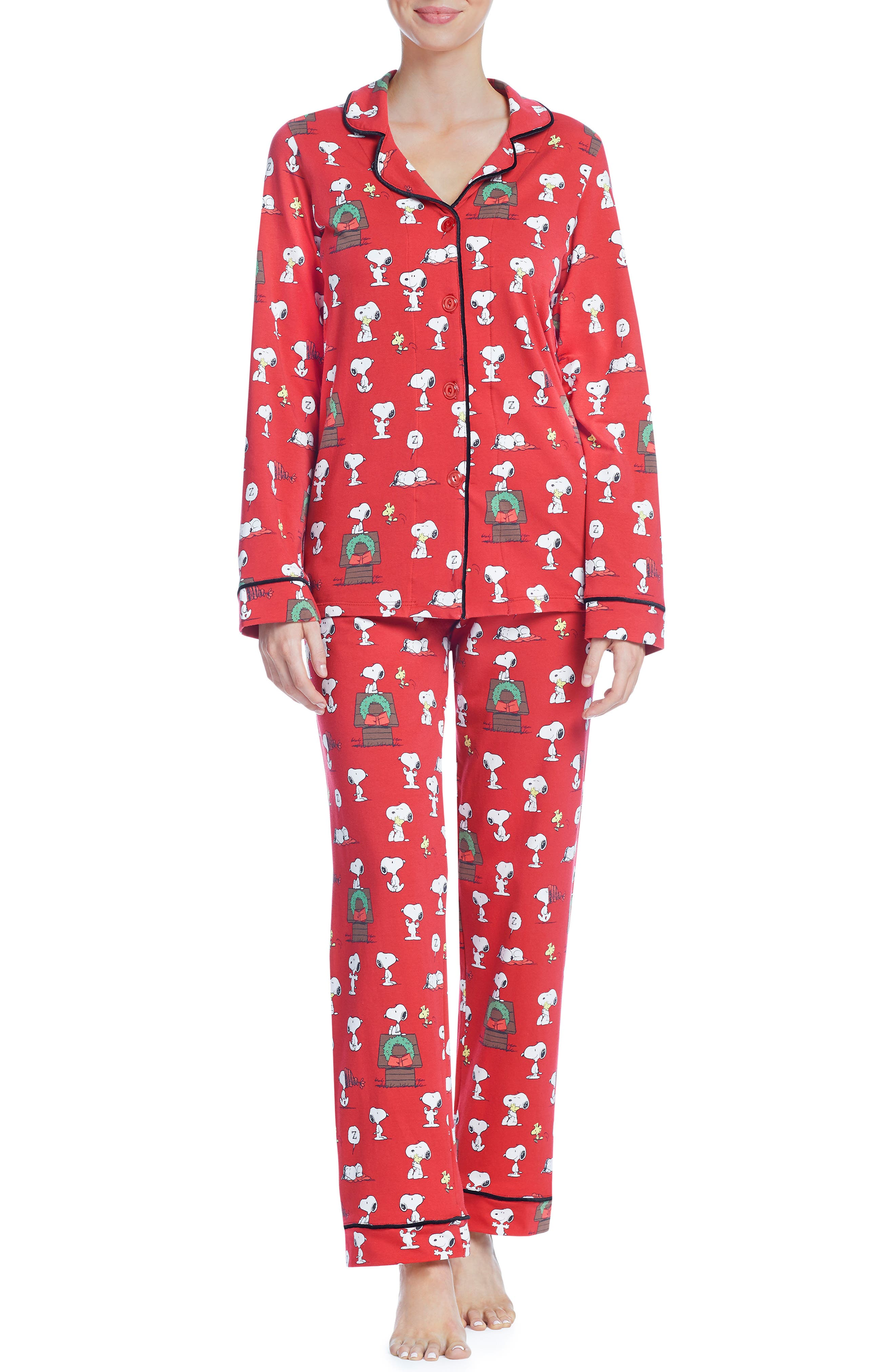 BEDHEAD Classic Print Pajamas in Snoopys Christmas
