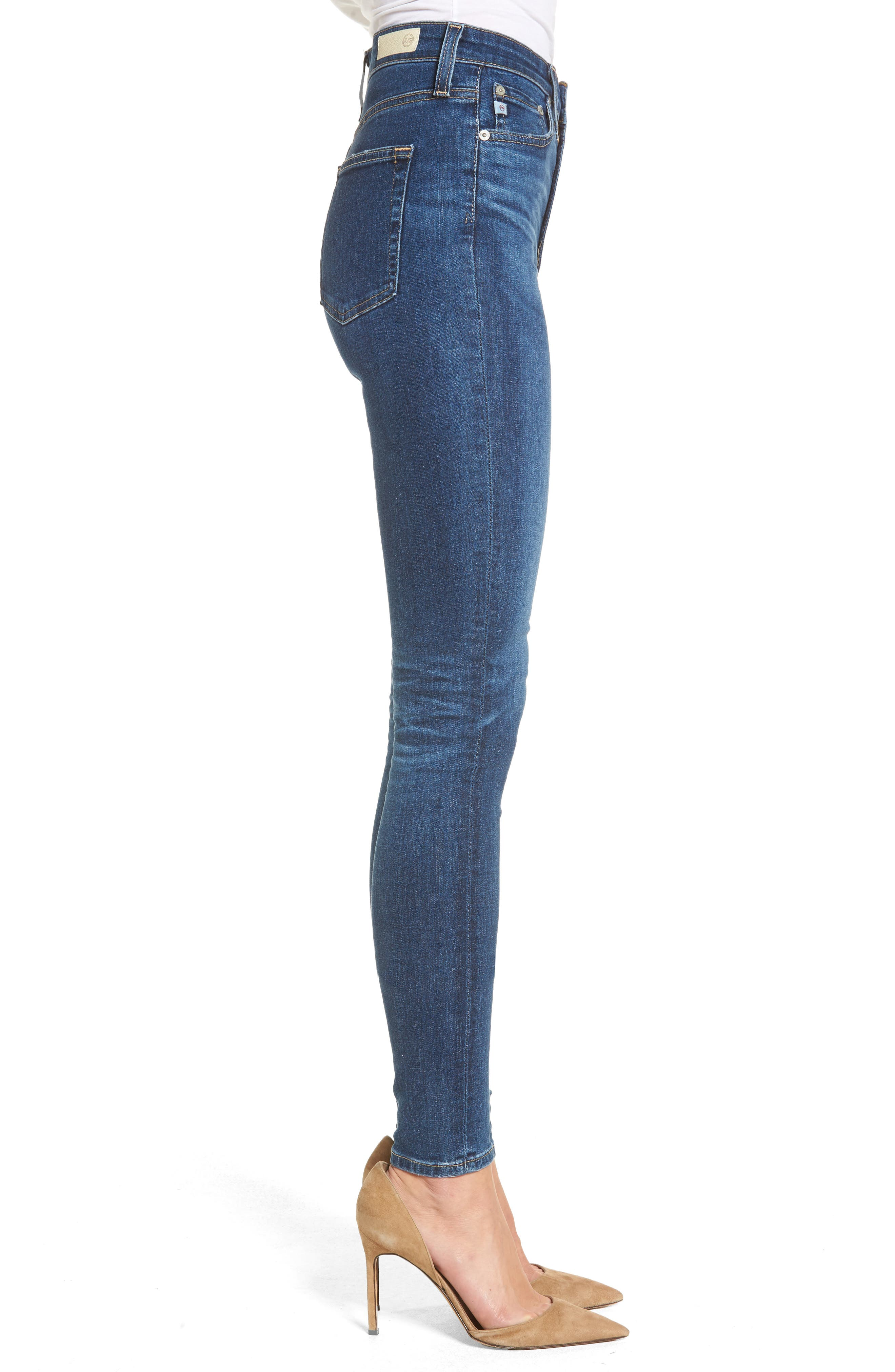 Mila High Waist Skinny Jeans,                             Alternate thumbnail 3, color,                             473