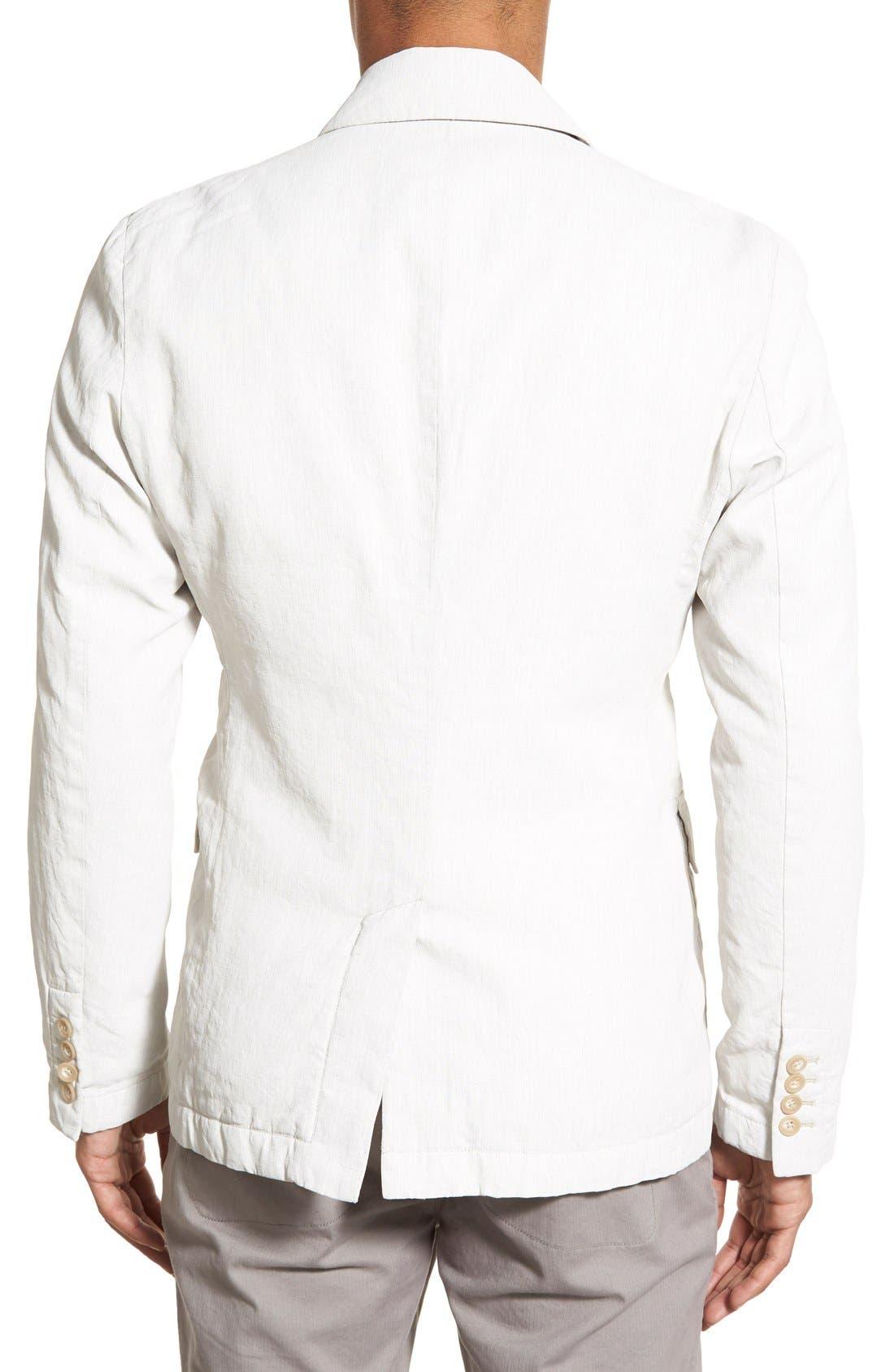 Linen Blend Unconstructed Sport Coat,                             Alternate thumbnail 3, color,