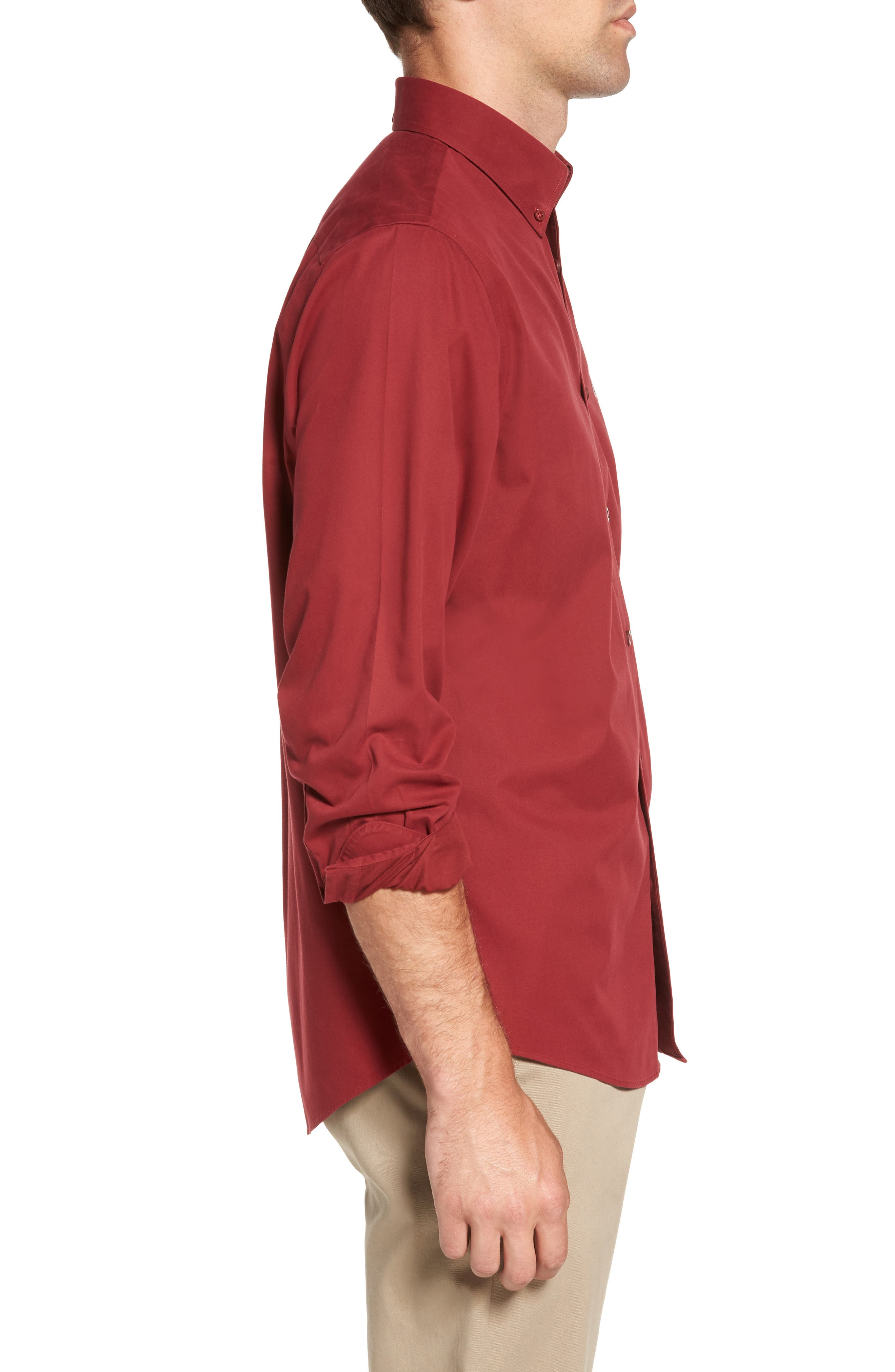 Smartcare<sup>™</sup> Traditional Fit Twill Boat Shirt,                             Alternate thumbnail 129, color,