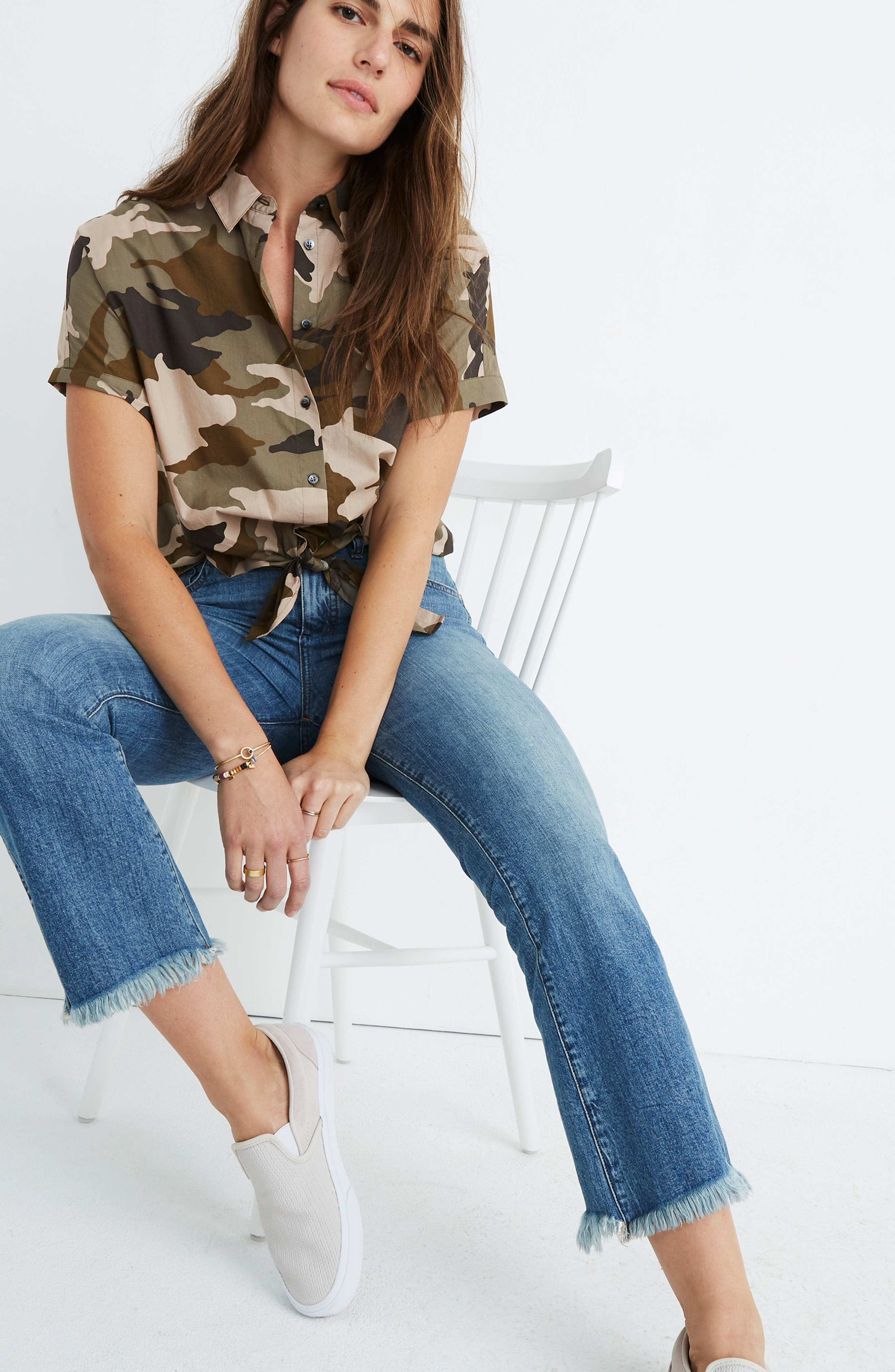 Cali Demi Boot Jeans,                             Alternate thumbnail 8, color,                             HENEY