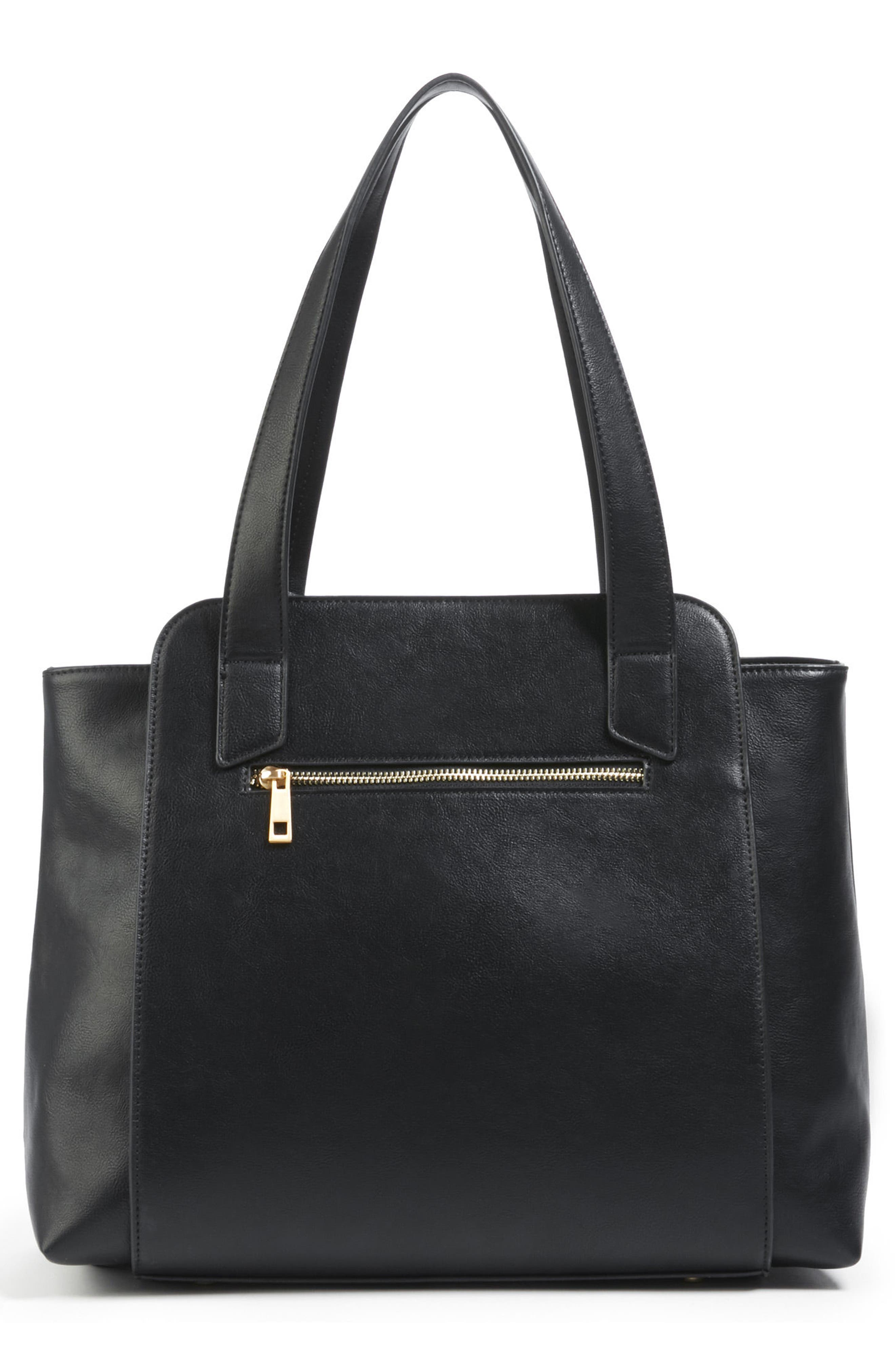 Faux Leather Tote,                             Alternate thumbnail 2, color,                             001