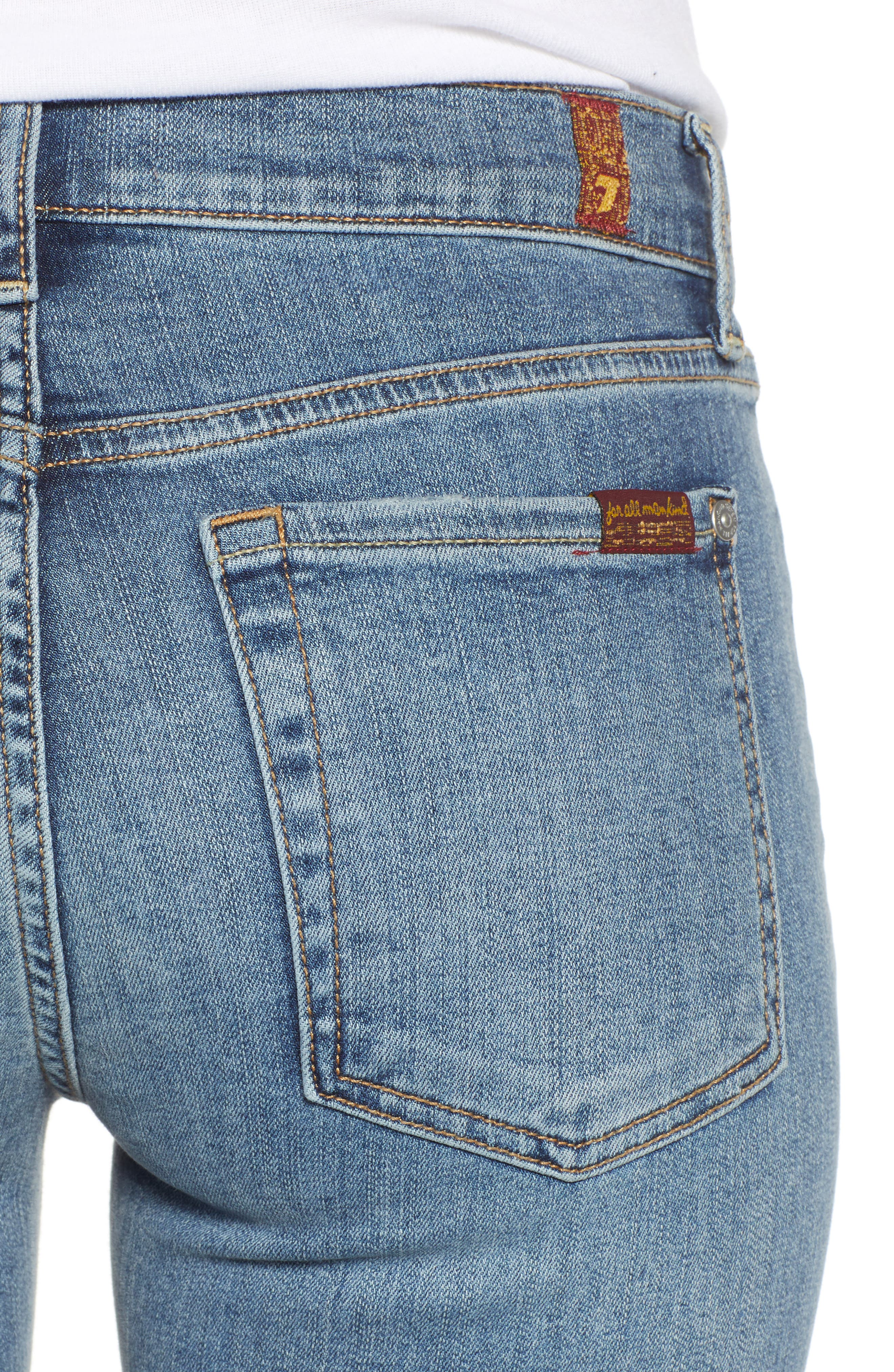 7 FOR ALL MANKIND<SUP>®</SUP>,                             b(air) Roxanne Frayed Ankle Slim Jeans,                             Alternate thumbnail 4, color,                             402